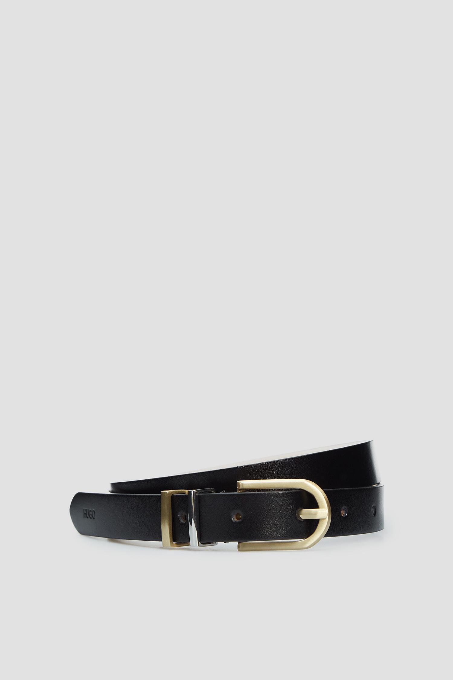 Женский черный кожаный ремень HUGO 50391313;002
