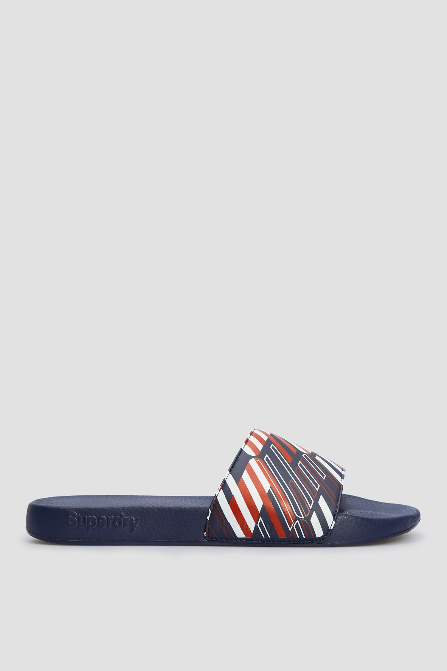Темно-сині слайдери з принтом для хлопців SuperDry MF310126A;A4Y