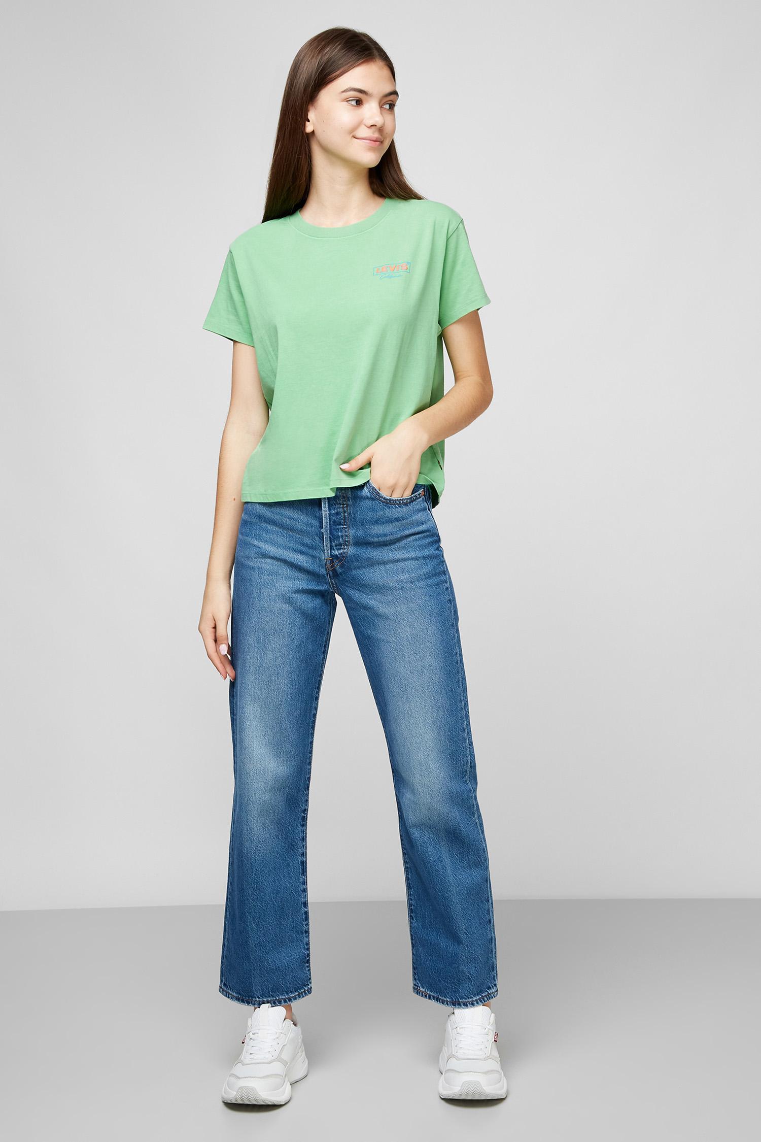 Синие джинсы Ribcage Straight Ankle для девушек Levi's 72693;0056