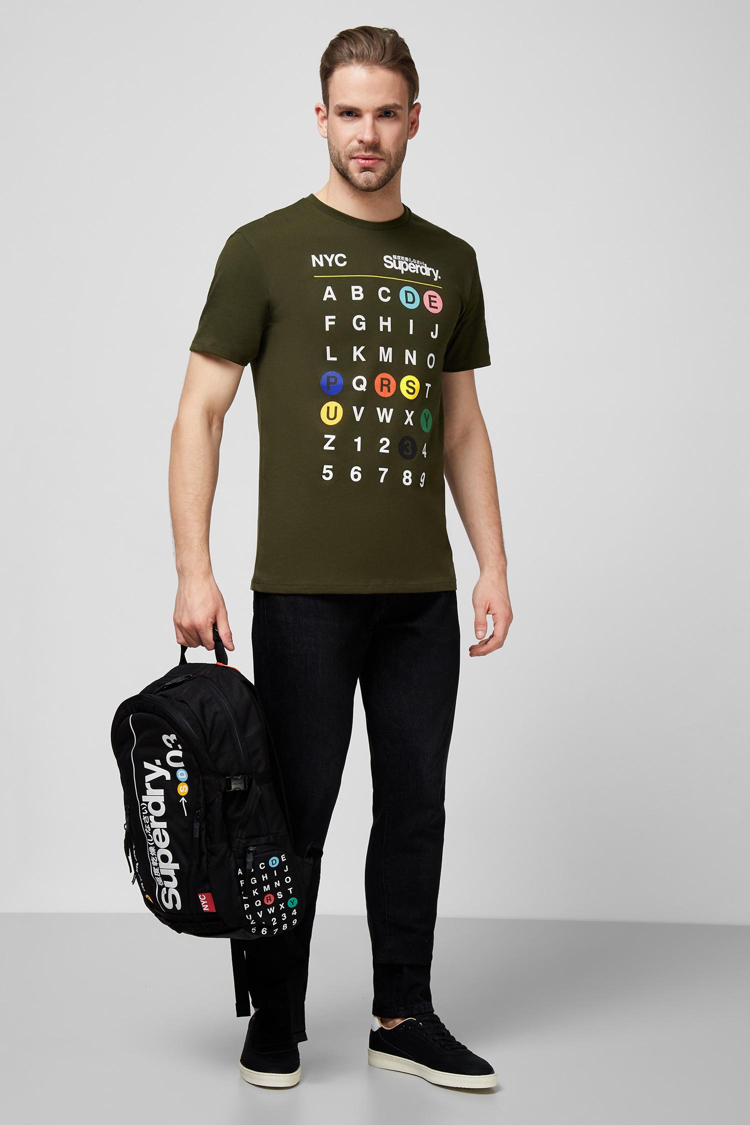 Мужская зеленая футболка SuperDry M1010343A;ZC3