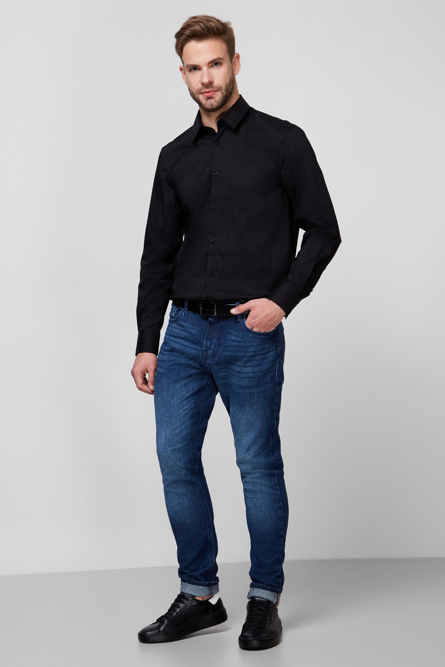 Мужская черная рубашка Guess M0BH20.W7ZK0;JBLK