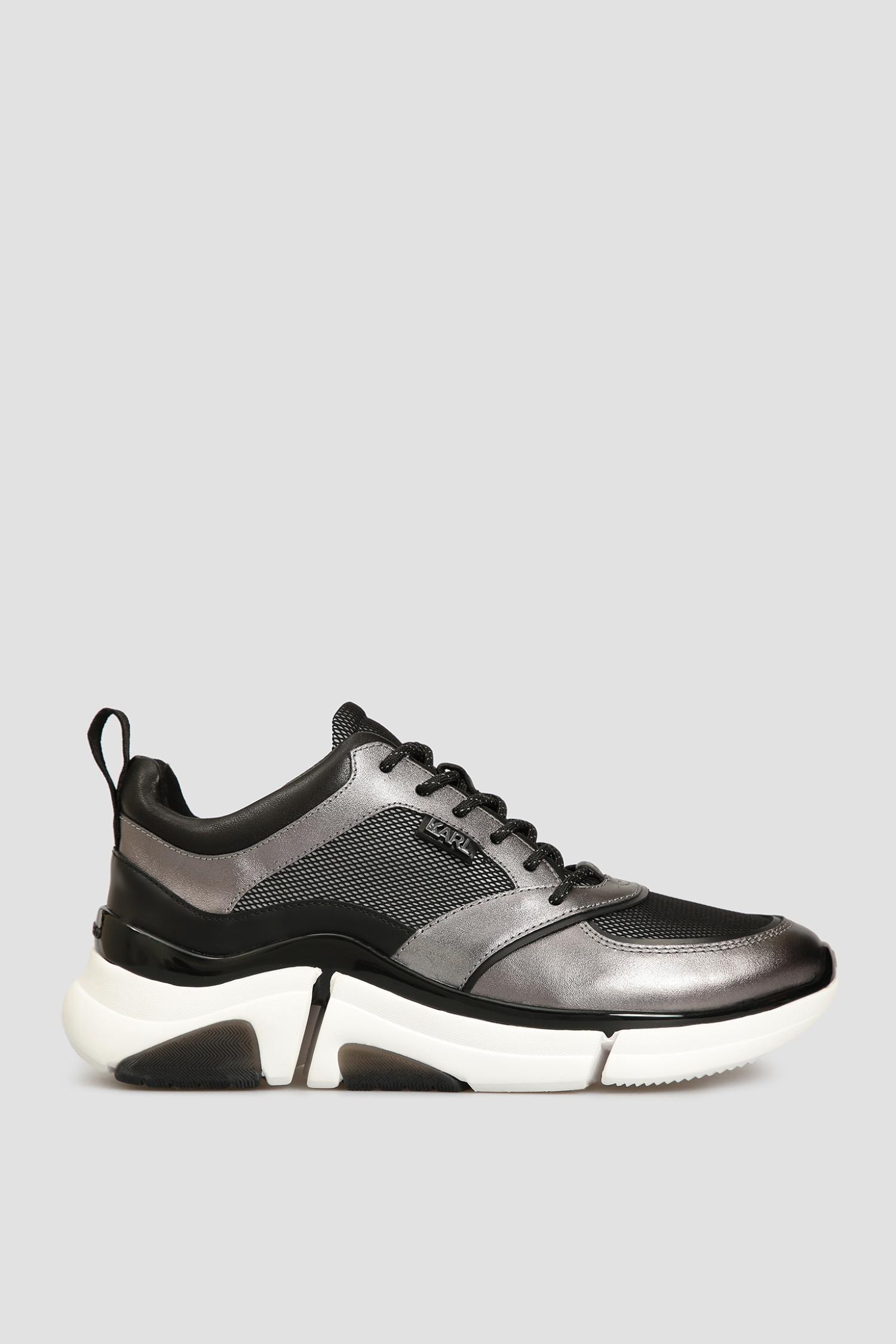 Мужские черные кожаные кроссовки Karl Lagerfeld 501477.855010;910