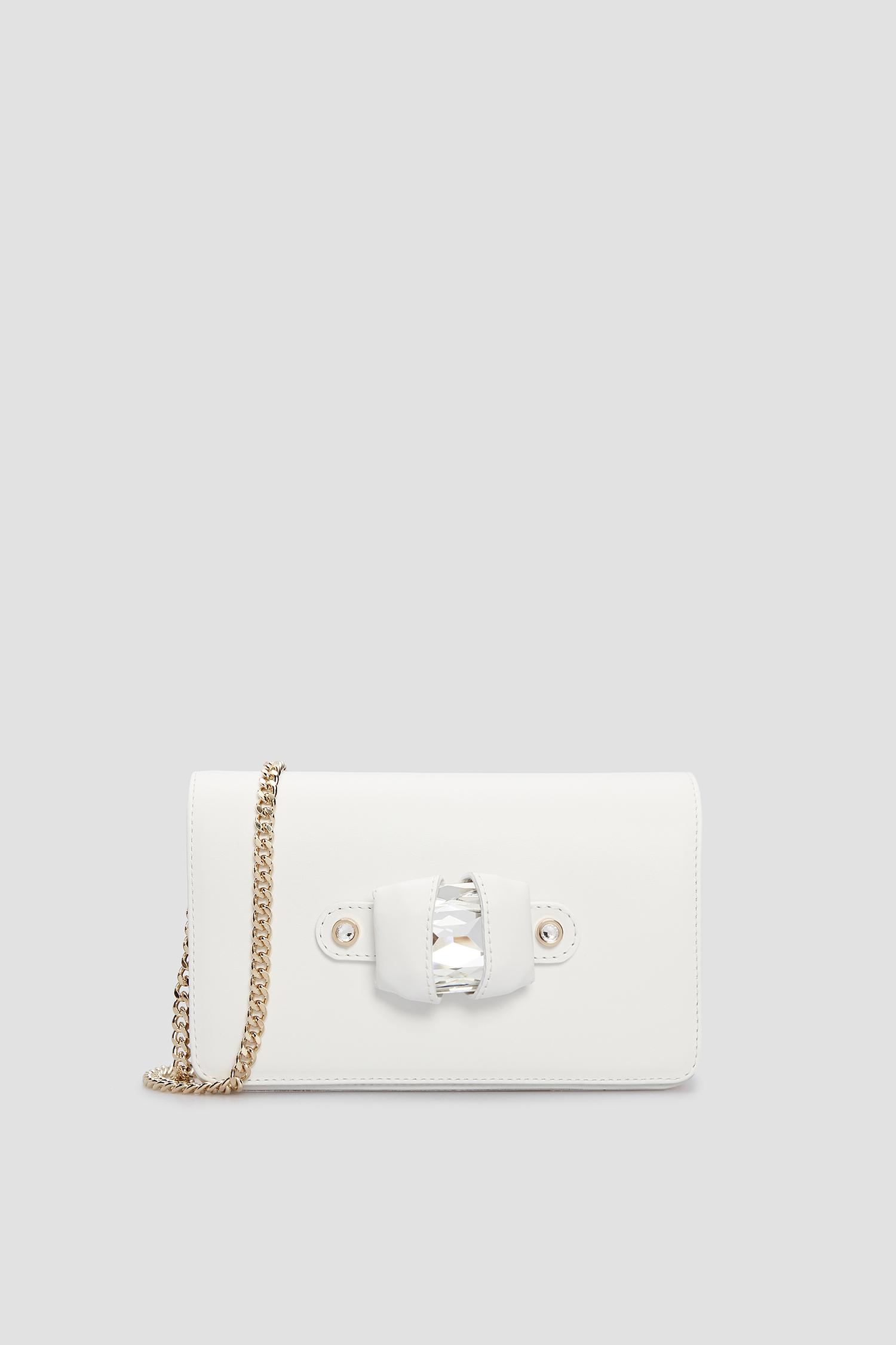 Женская белая кожаная сумка через плечо Baldinini 170217;9002