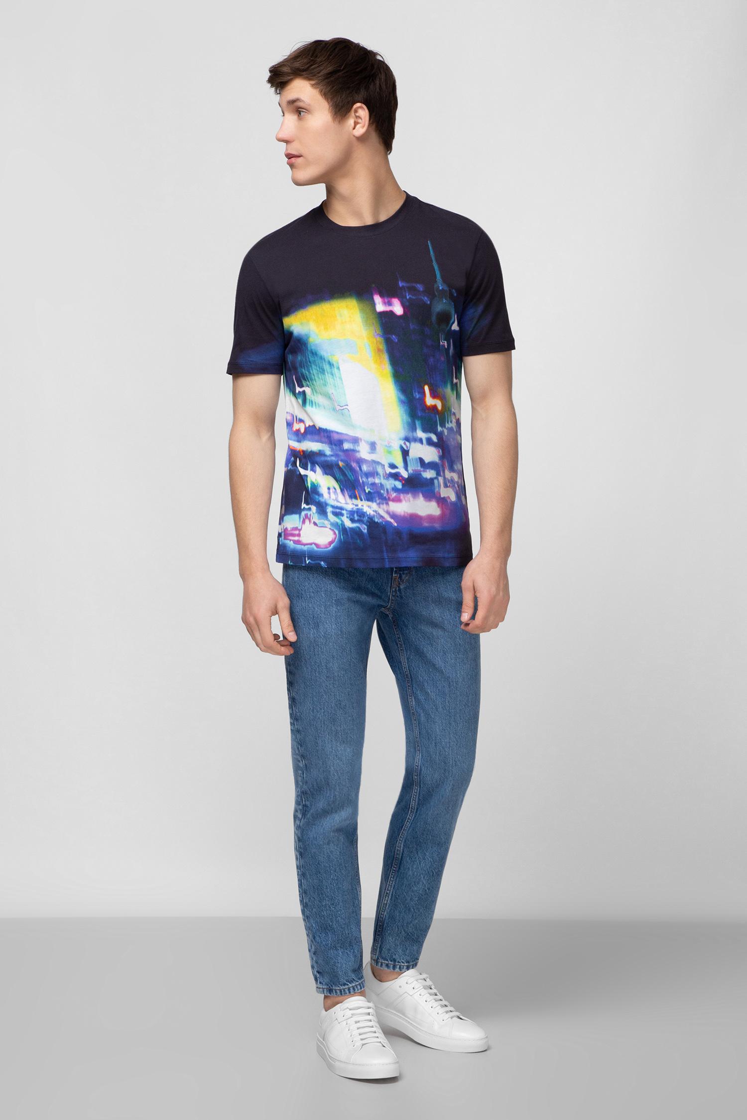 Мужская темно-синяя футболка HUGO 50424440;001