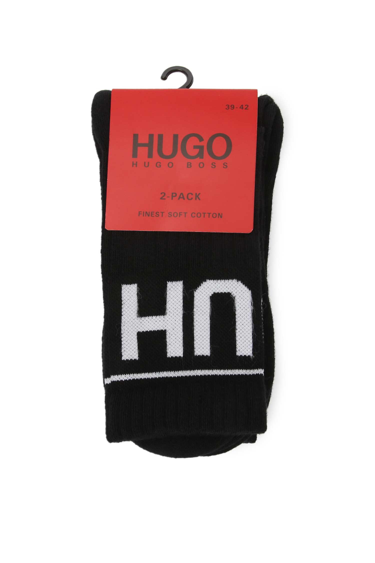Мужские черные носки (2 пары) HUGO 50401985;001