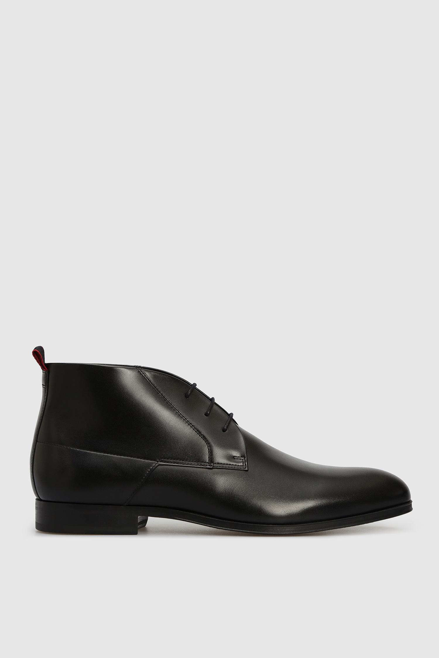 Мужские черные кожаные дезерты HUGO 50441051;001