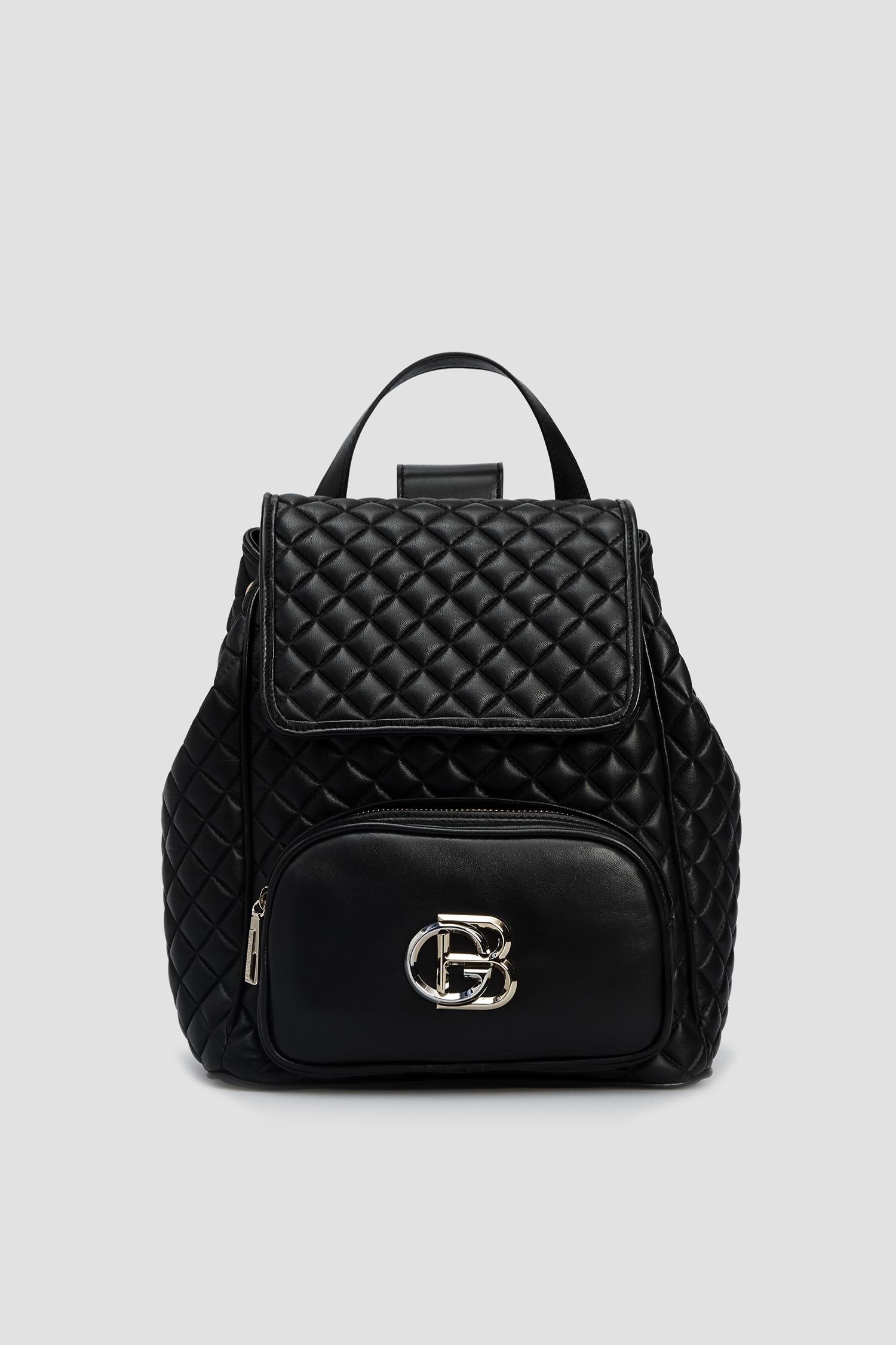 Женский черный кожаный рюкзак Baldinini 120133;00