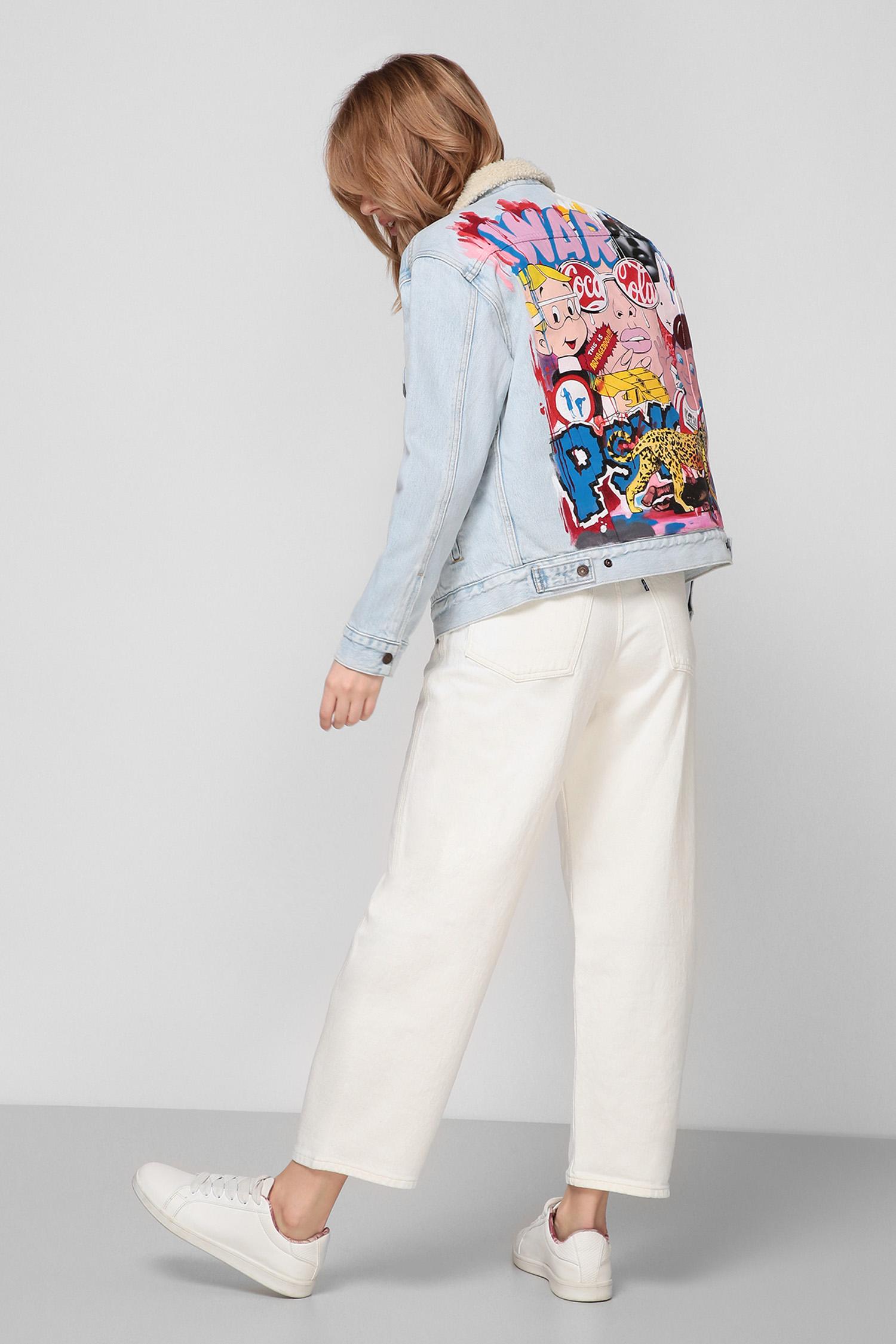 Женская голубая джинсовая куртка Custom Levi's 36137;0031T(5)