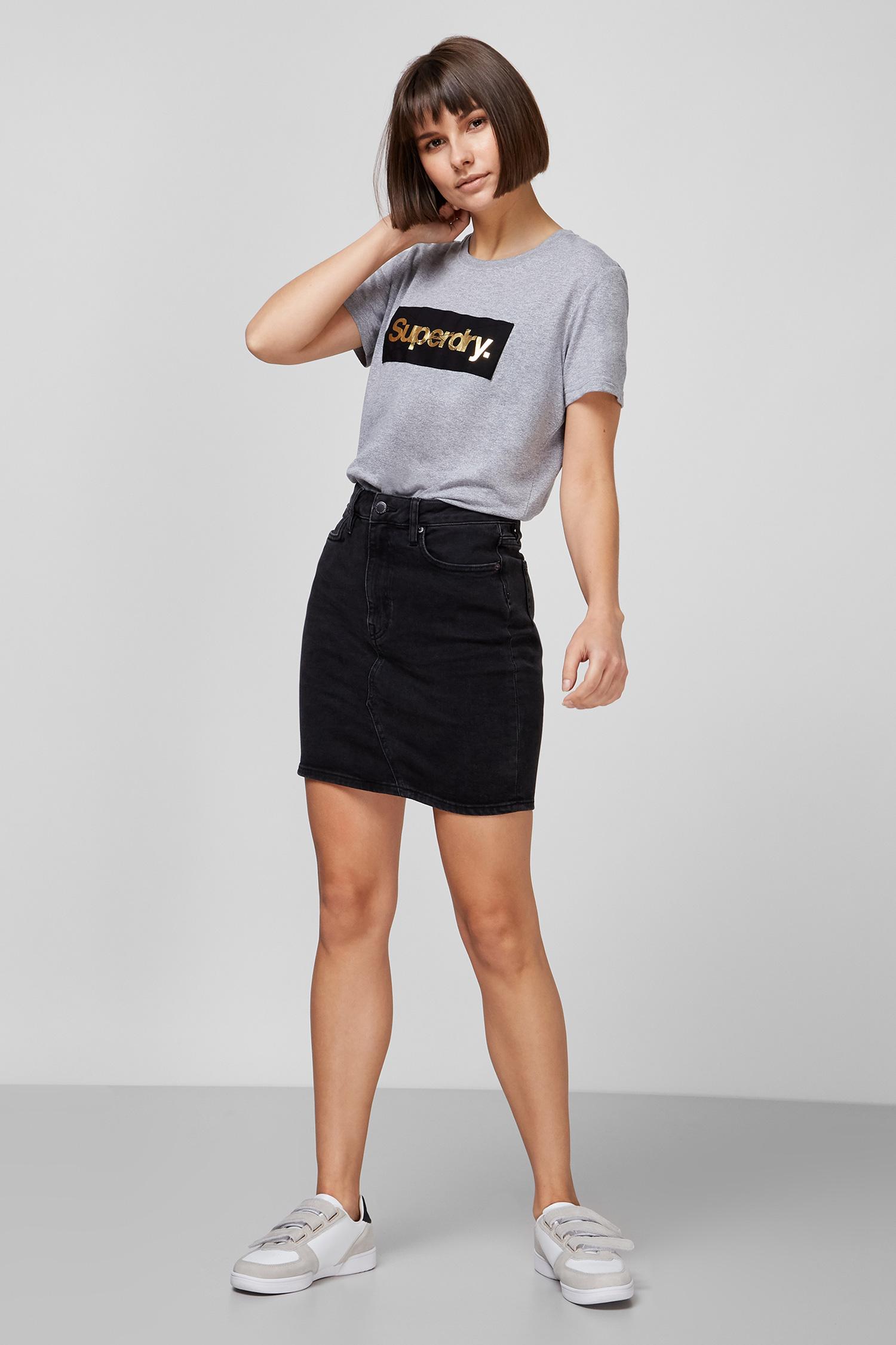 Женская серая футболка SuperDry W1010218A;EJ4