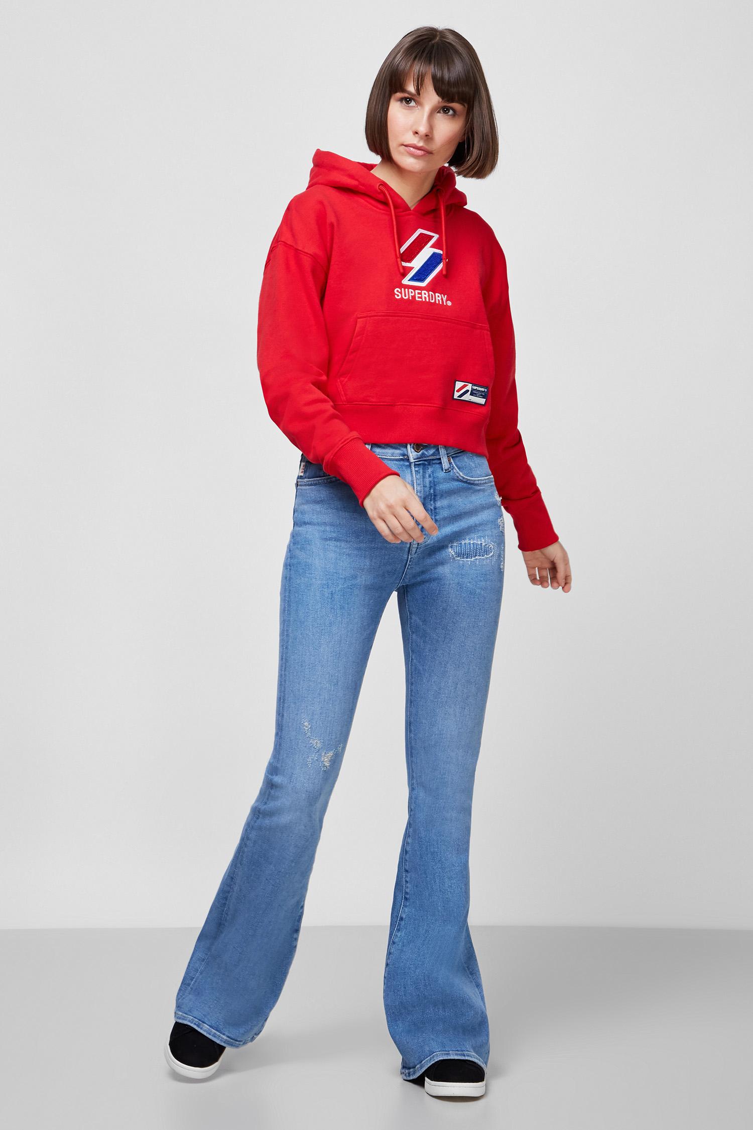 Женское красное худи SuperDry W2010957A;OPI