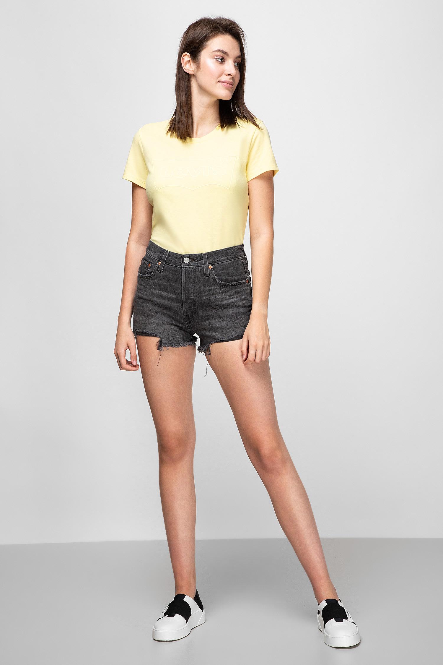 Жіночі сірі джинсові шорти 501 High Rise Taille Haute Levis 56327;0070