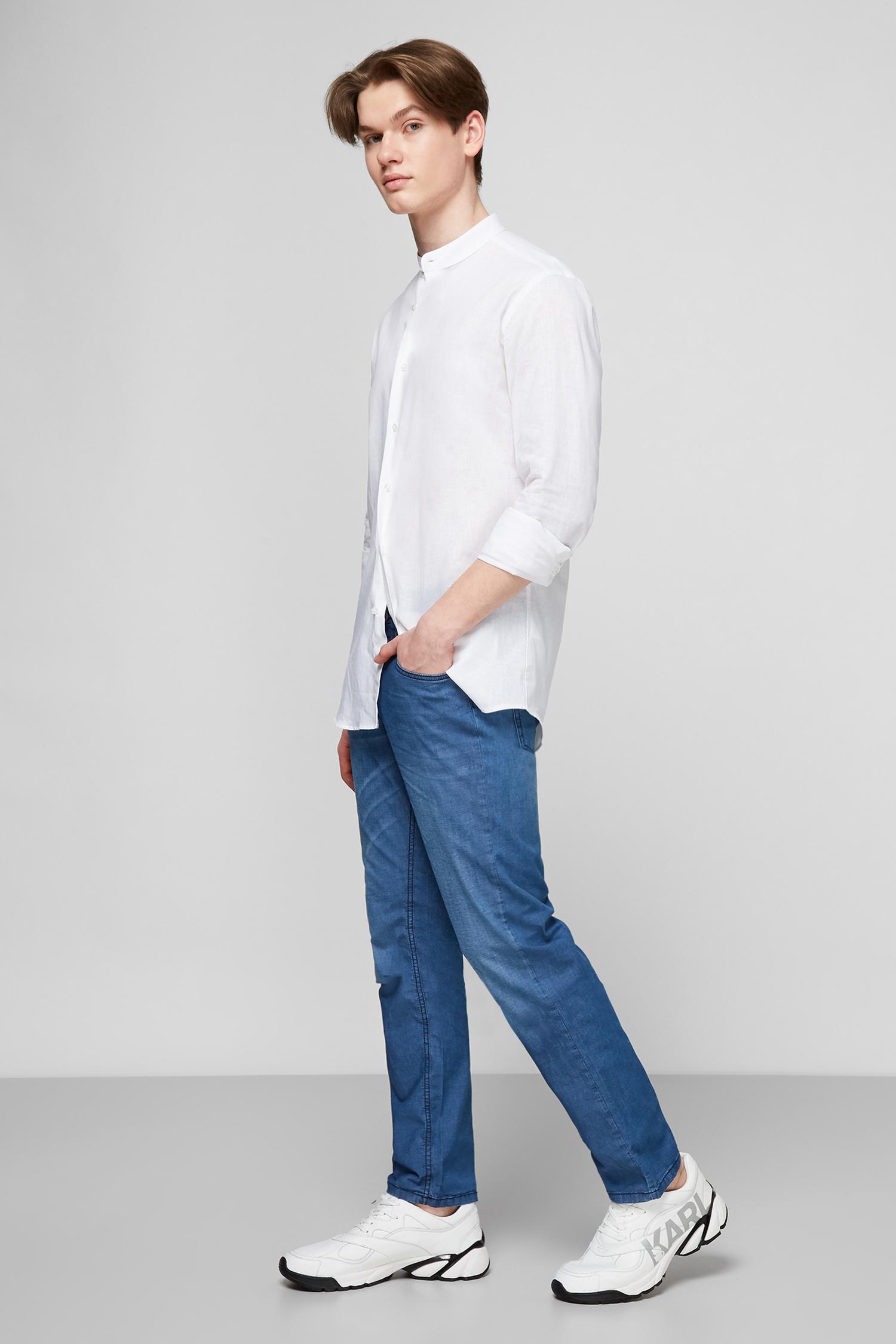 Белая льняная рубашка для парней Karl Lagerfeld 511628.605035;10