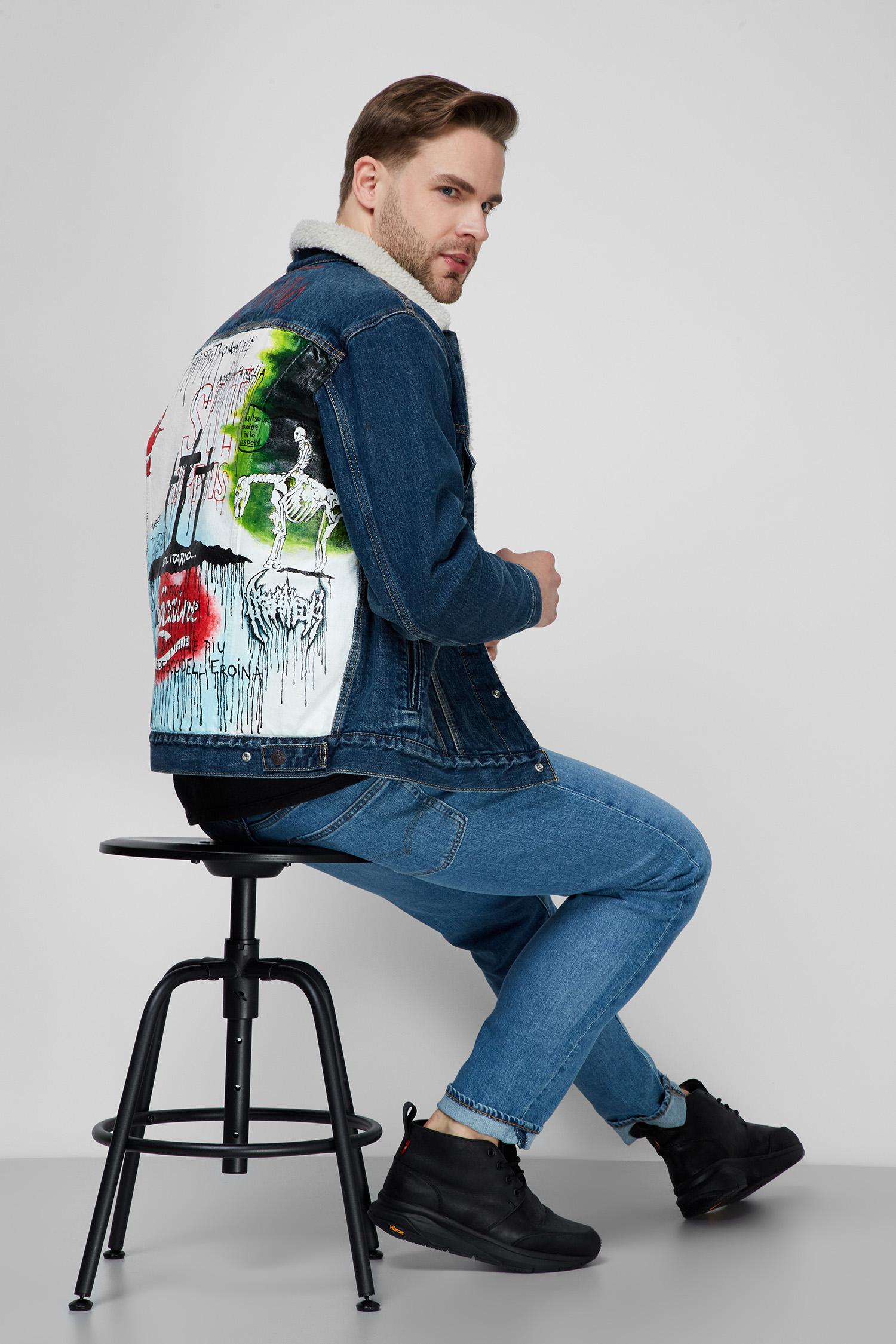 Мужская синяя джинсовая куртка Custom Levi's 79129;0004T(10)