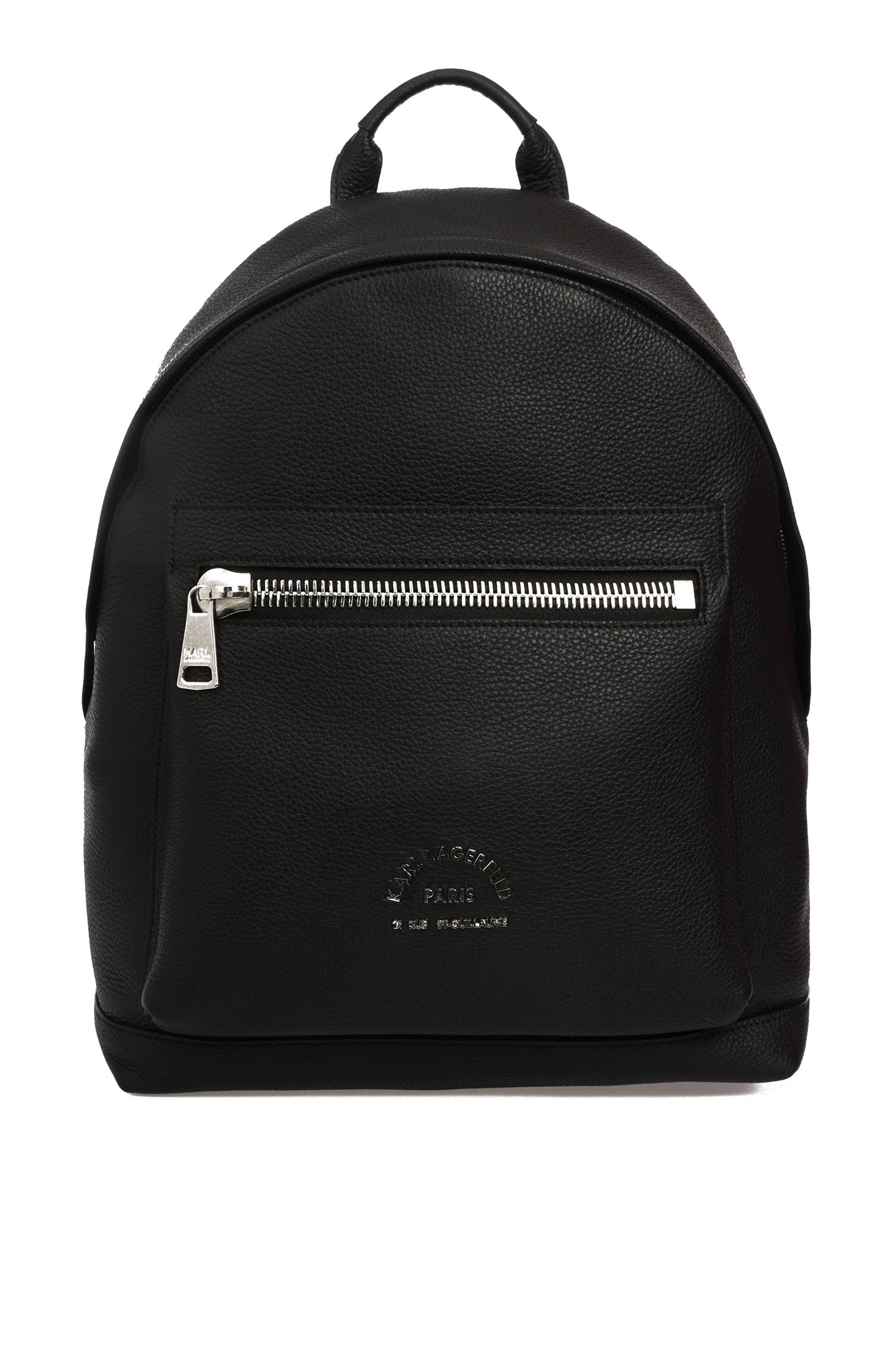 Мужской черный кожаный рюкзак Karl Lagerfeld 592451.815901;990