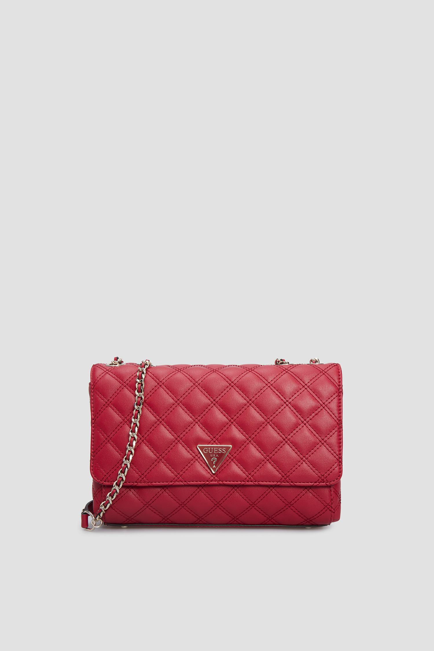 Женская красная сумка через плечо Guess HWEV76.79210;RED