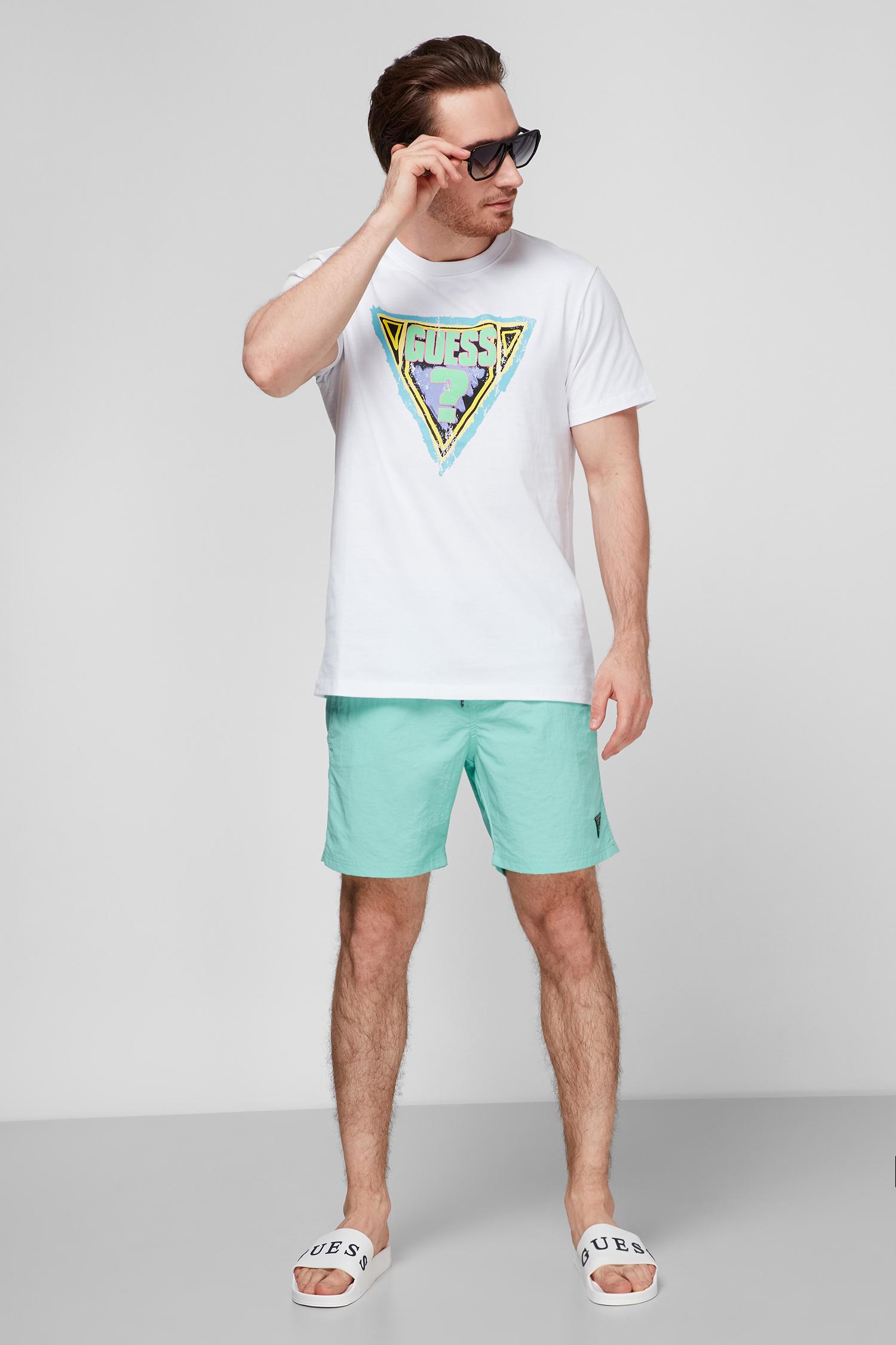 Мужские мятные плавательные шорты Guess F02T01.TEL27;G753