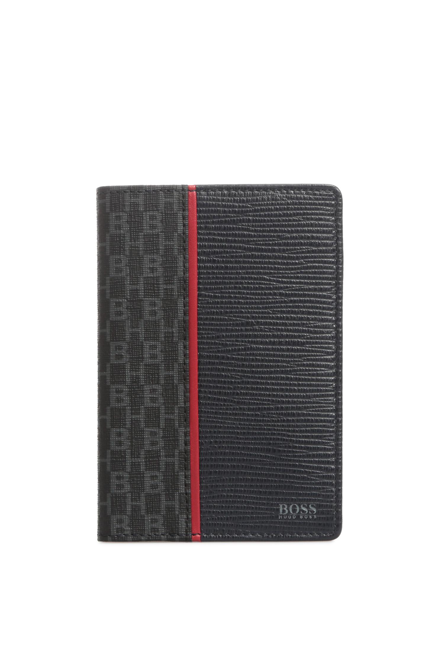 Мужская черная обложка для паспорта BOSS 50422663;411
