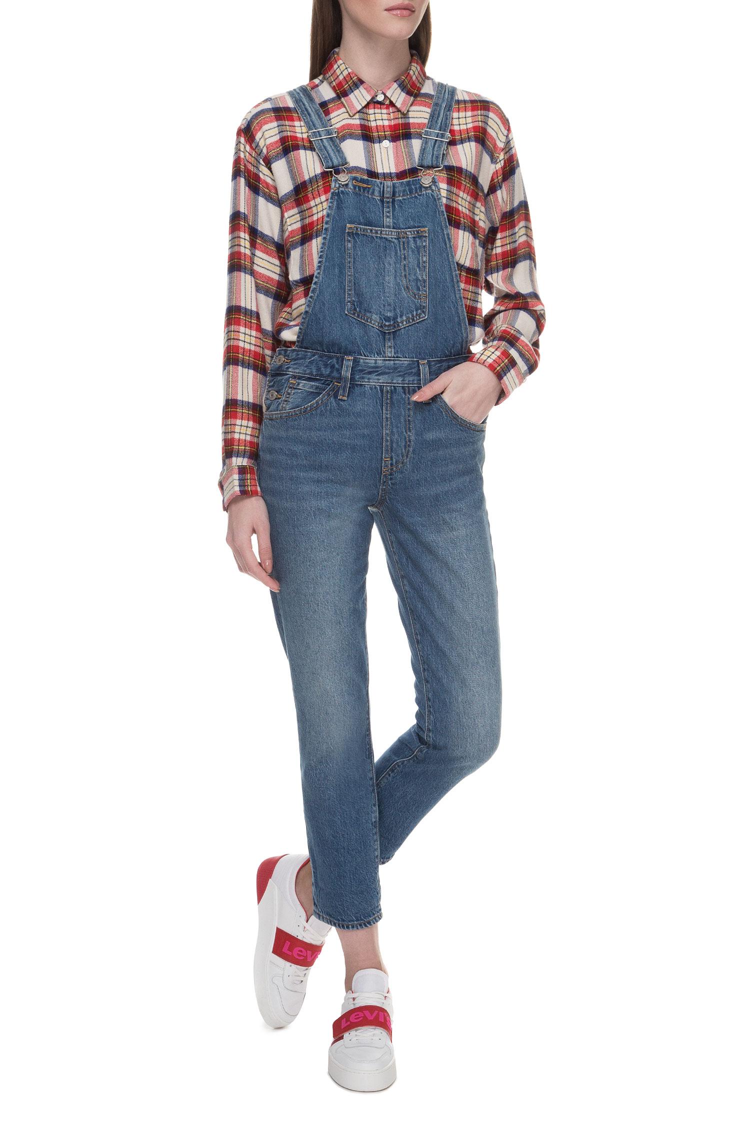 Женский синий джинсовый комбинезон Levi's 36133;0007