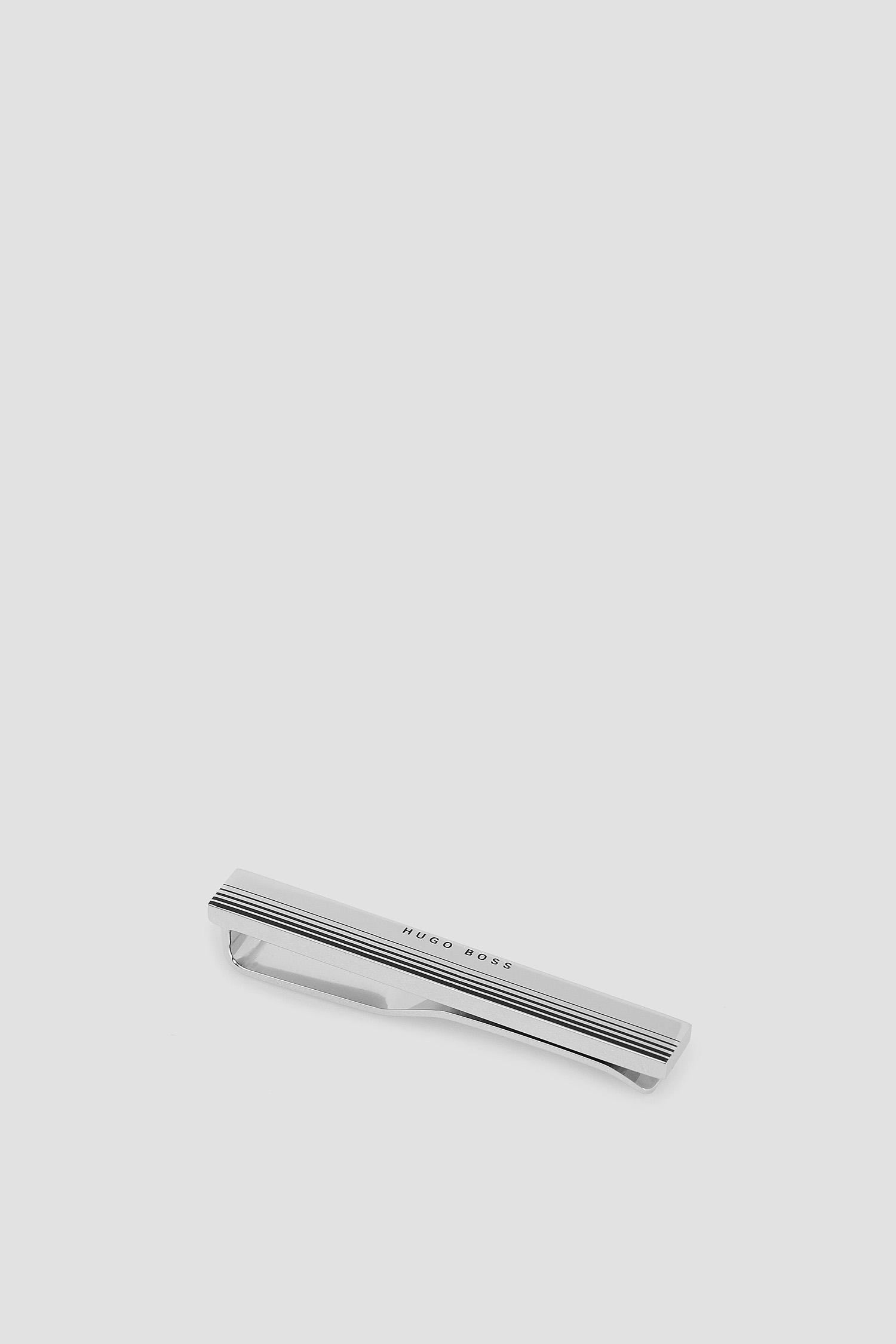 Мужской серебристый зажим для галстука BOSS 50434256;040