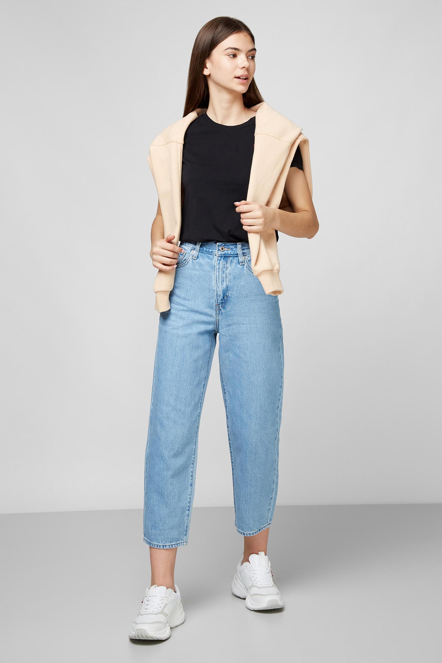 Голубые джинсы Balloon Leg для девушек Levi's 85314;0008