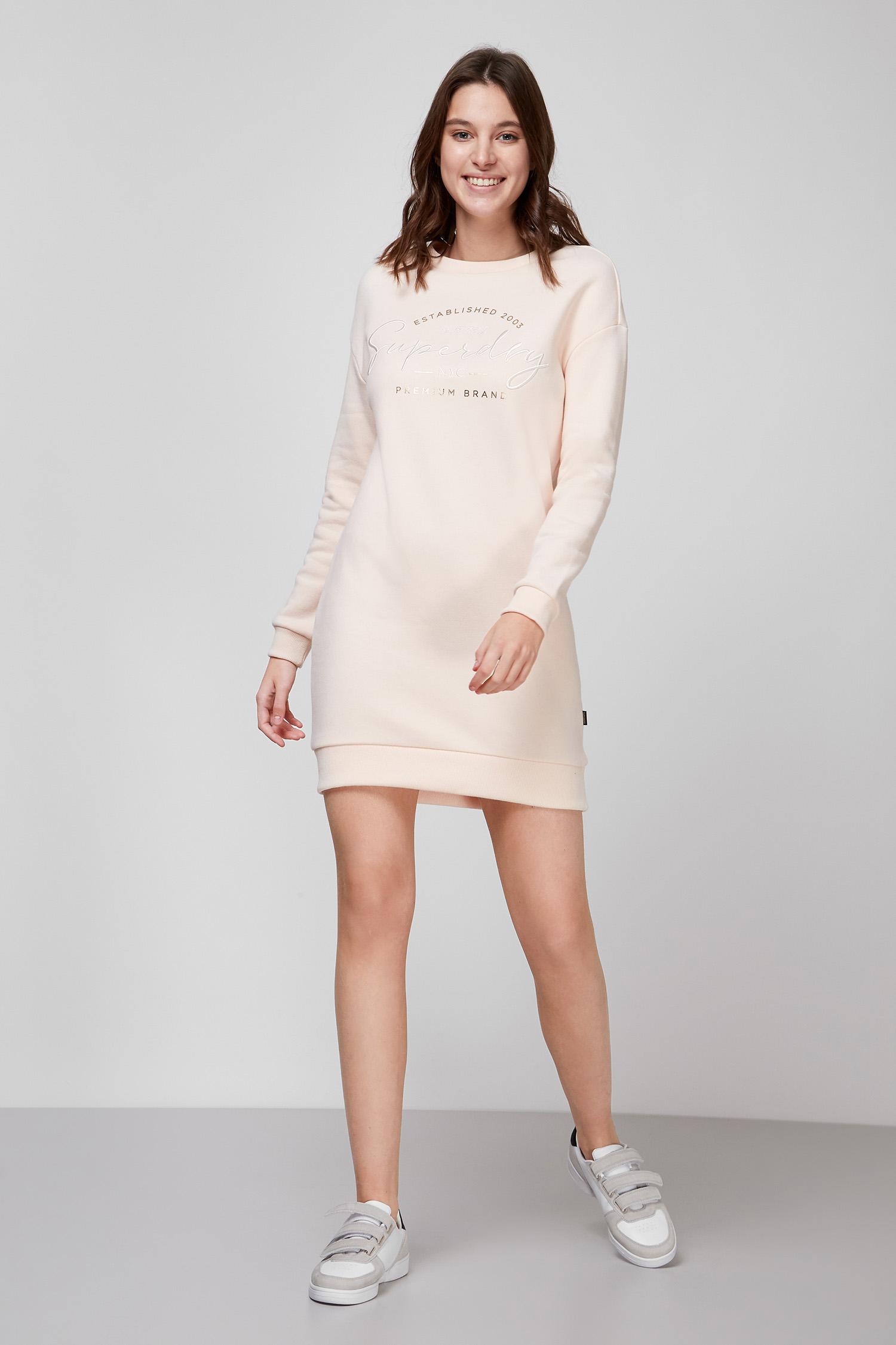 Женское пудровое платье SuperDry W8010408A;3KC