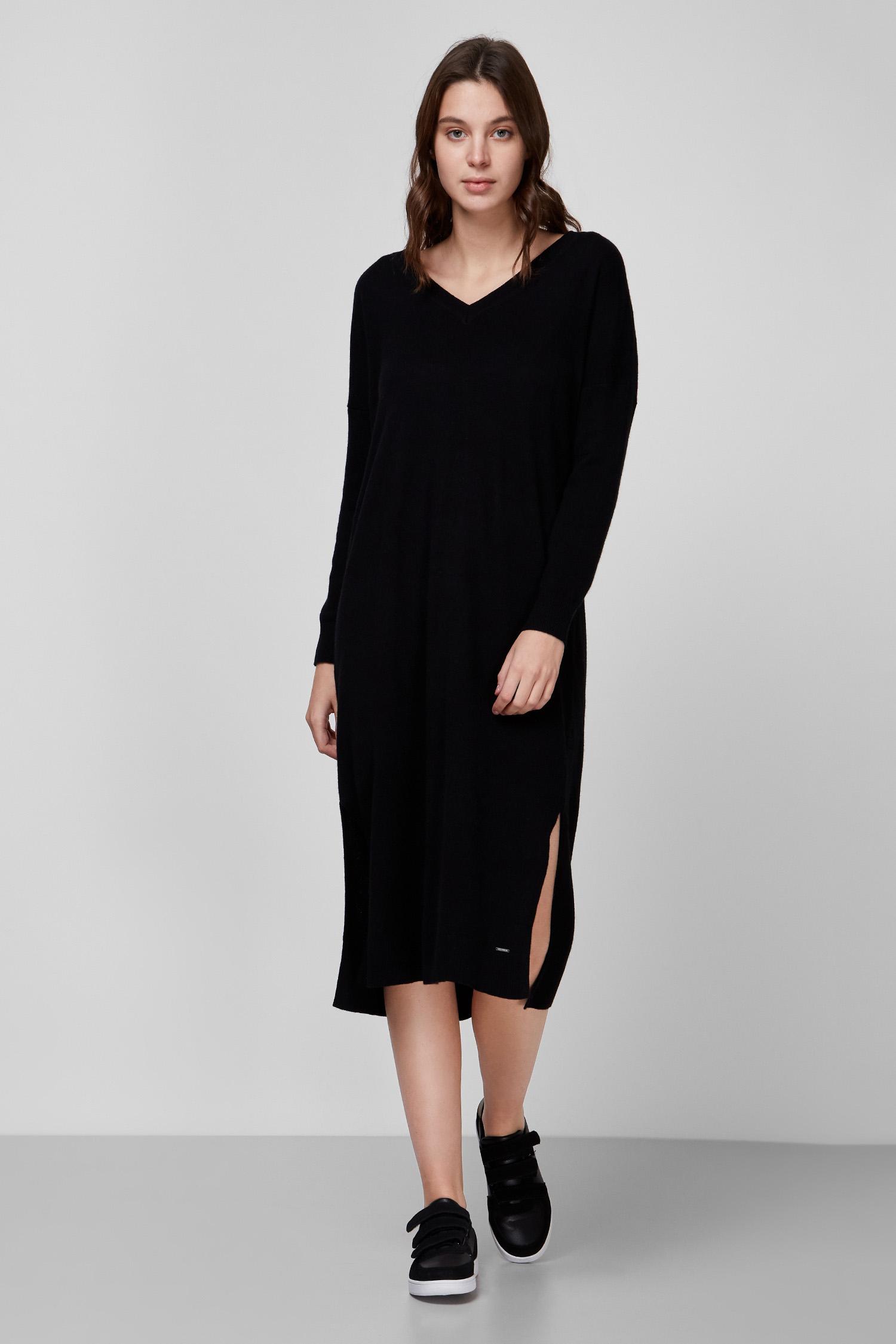 Женское черное шерстяное платье SuperDry W8010394A;02A