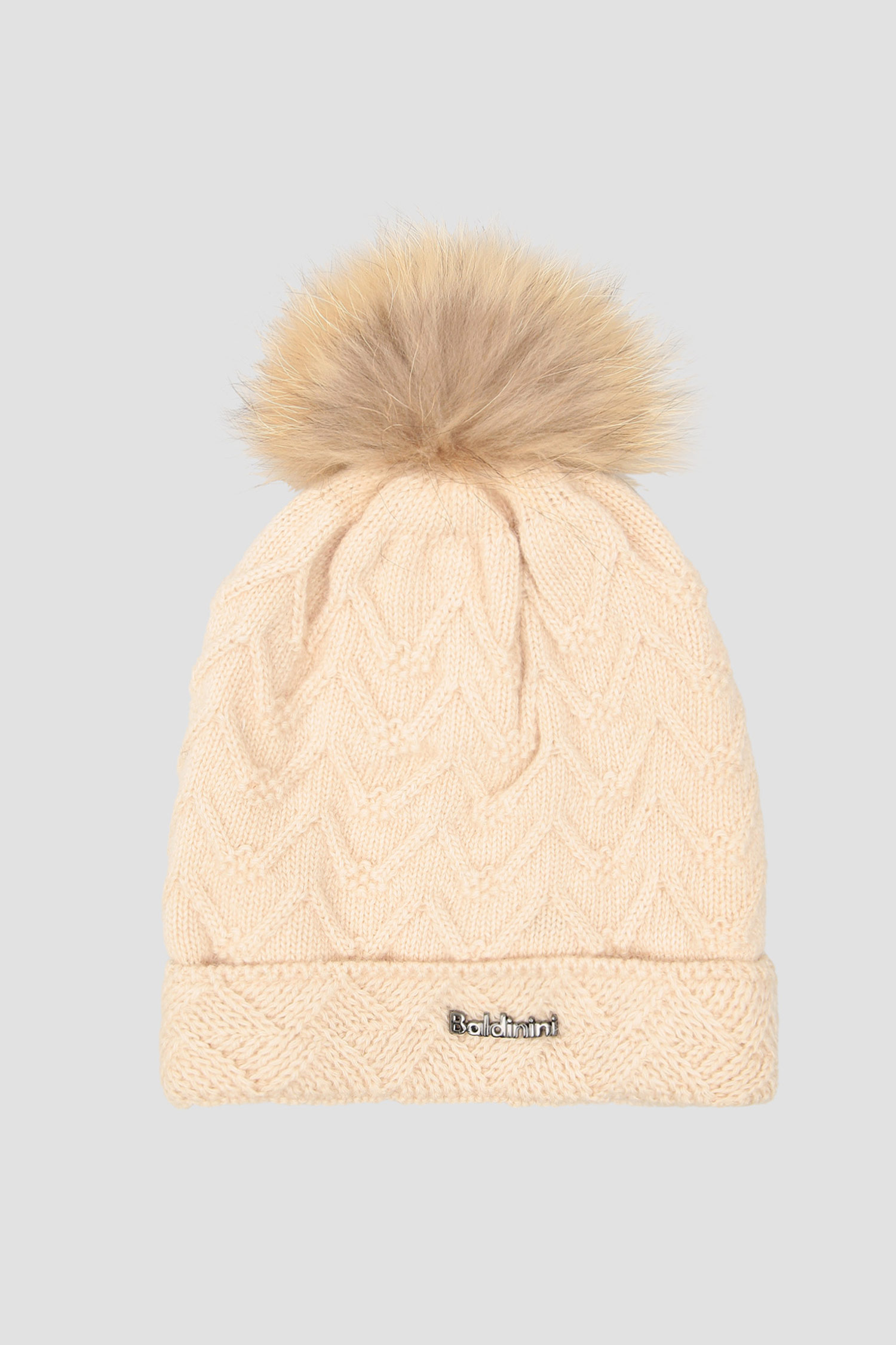 Бежевая шапка для девушек Baldinini 121705;98