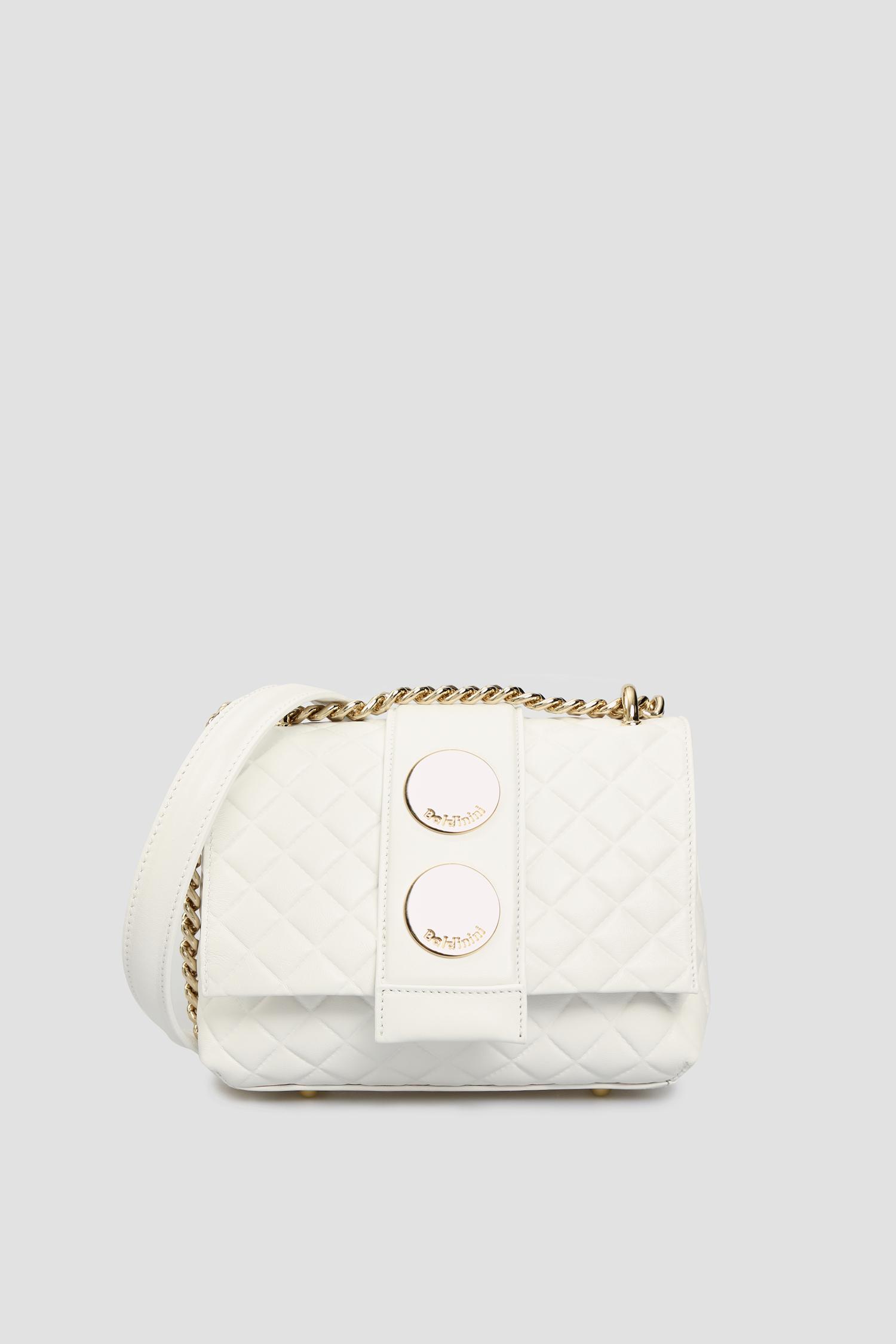 Женская белая кожаная сумка через плечо Baldinini 170609;9