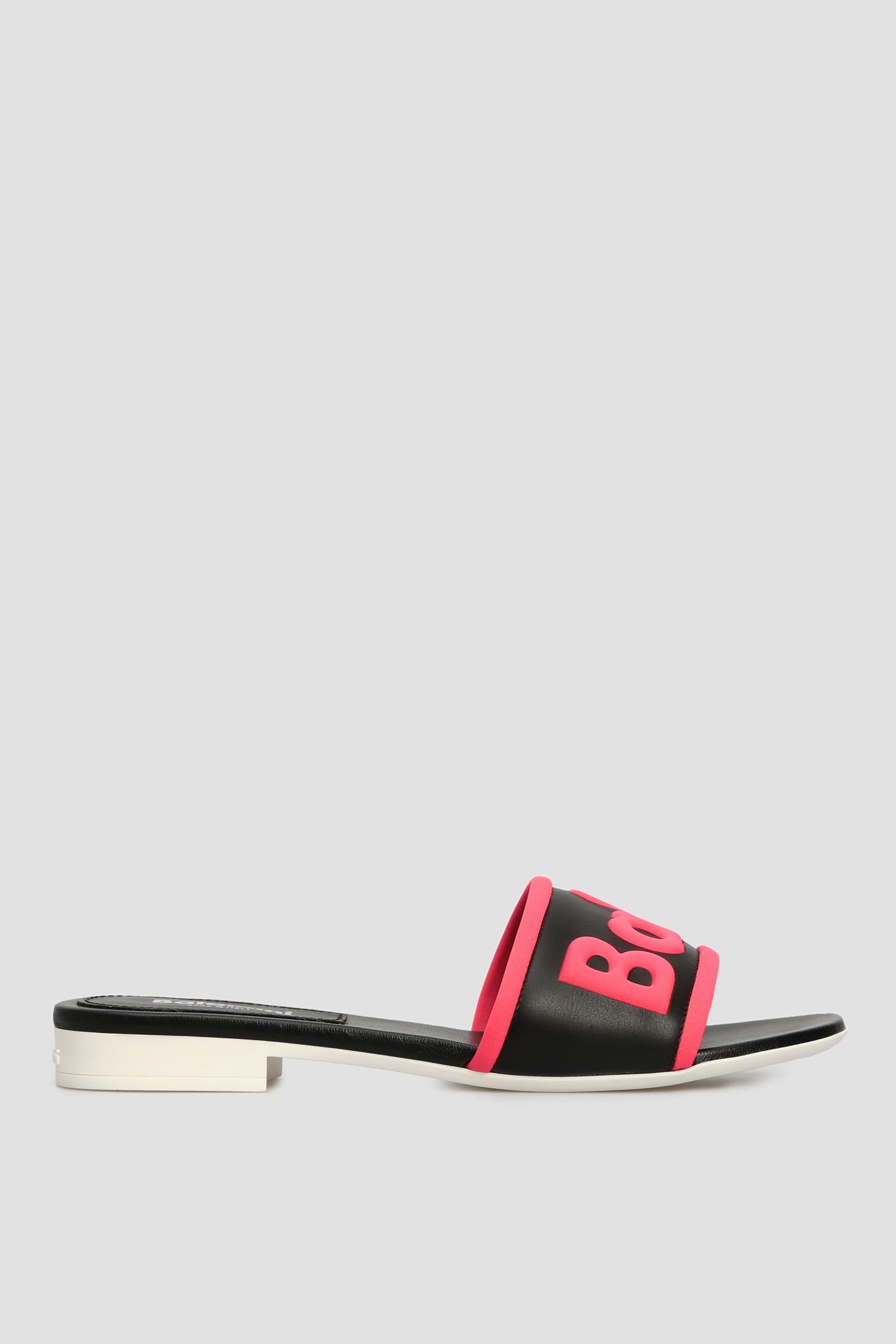 Женские черные кожаные слайдеры Baldinini 051010;13