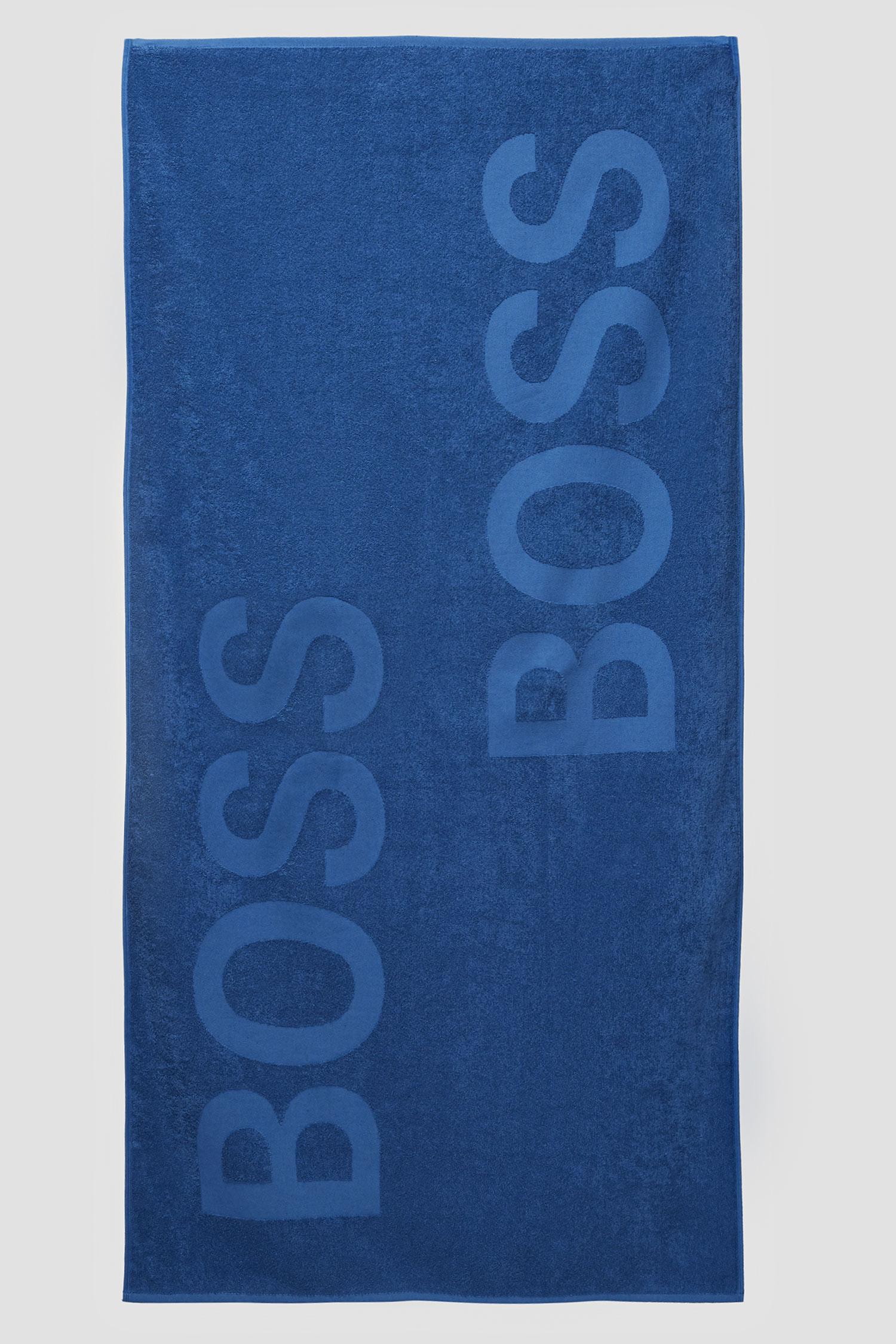 Мужское синее полотенце BOSS 50446614;423