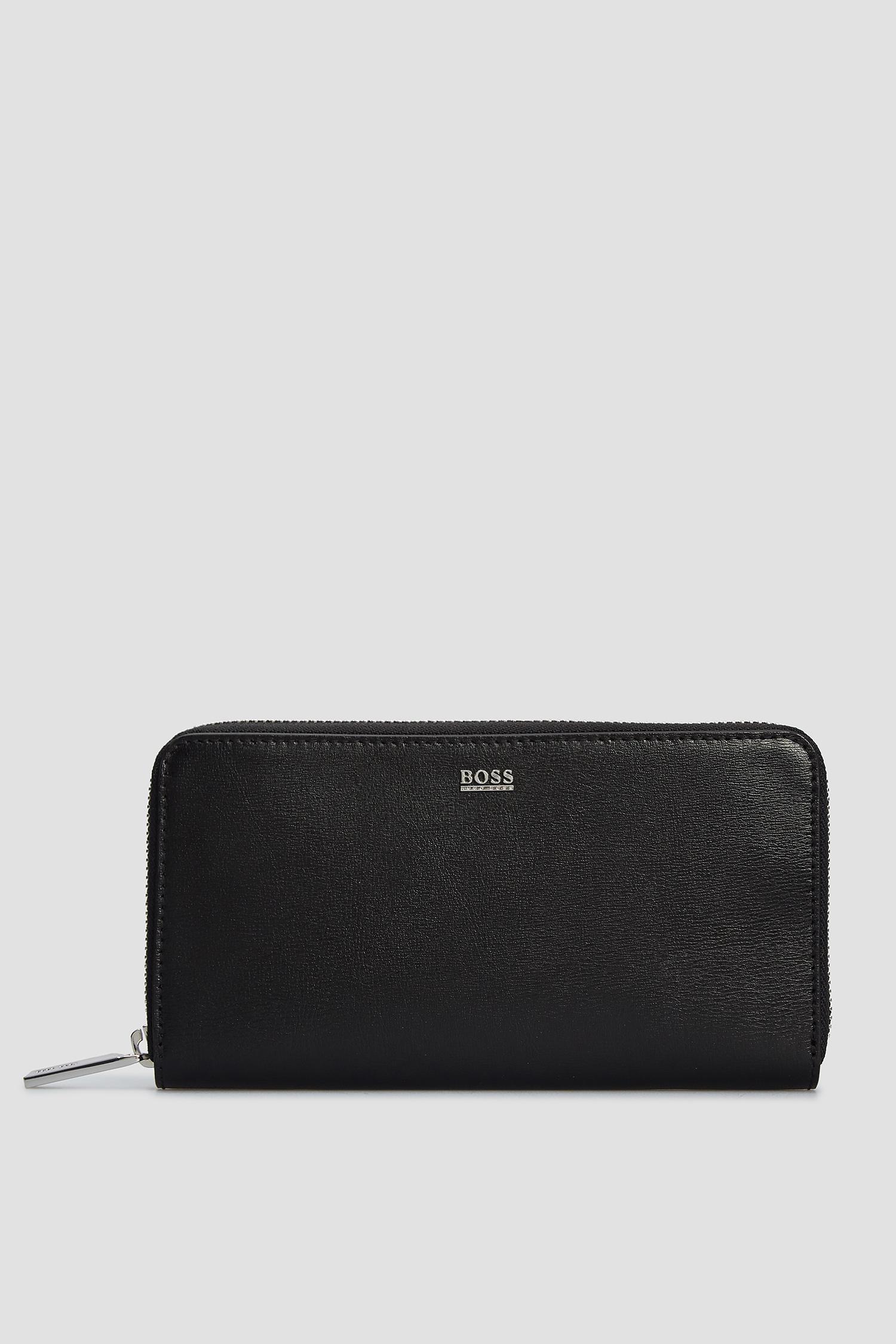 Чорний шкіряний гаманець для дівчат BOSS 50441921;001