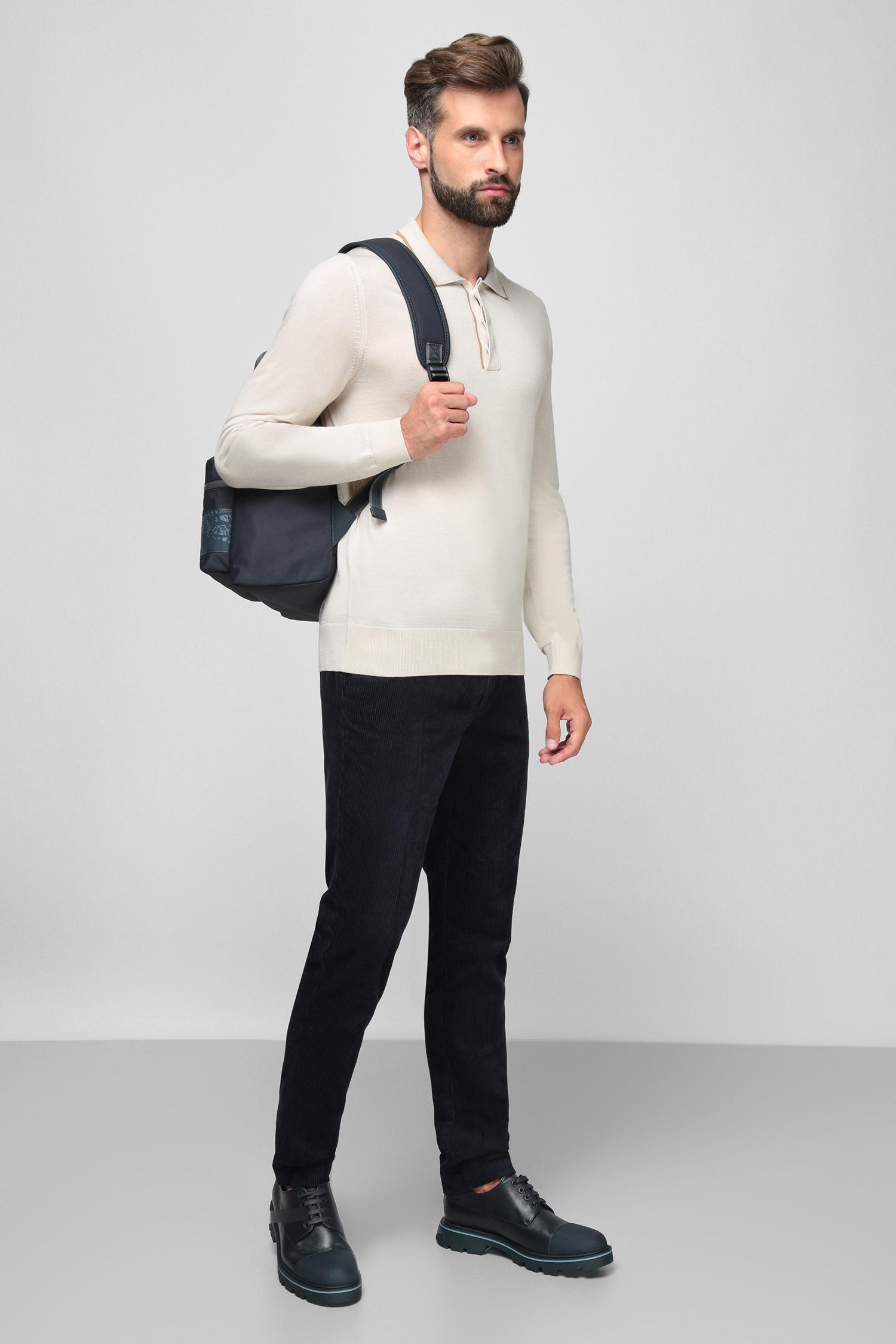 Чоловічі темно-сині брюки BOSS 50458543;404