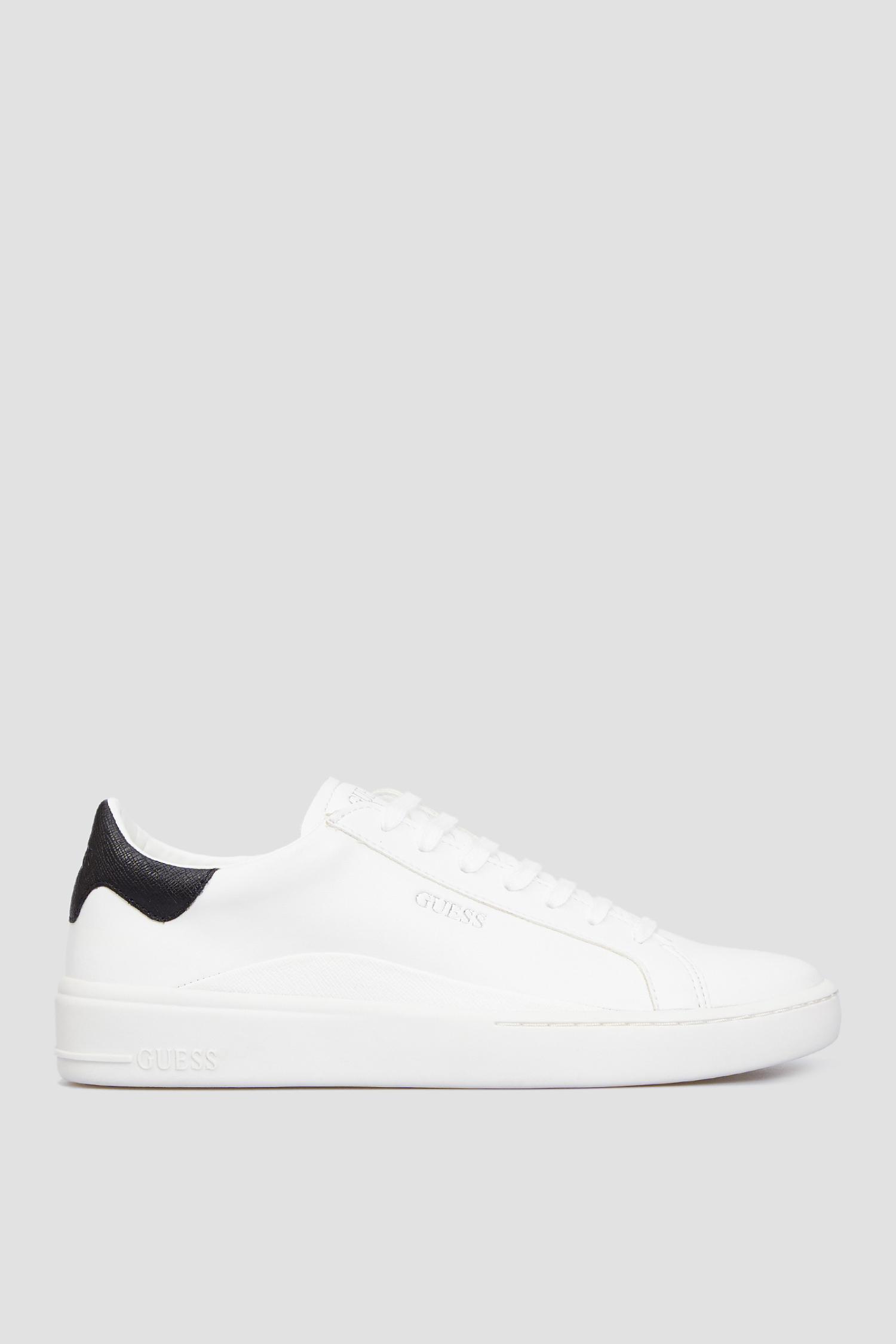 Мужские белые кожаные сникеры Guess FM8VER.LEA12;WHITE