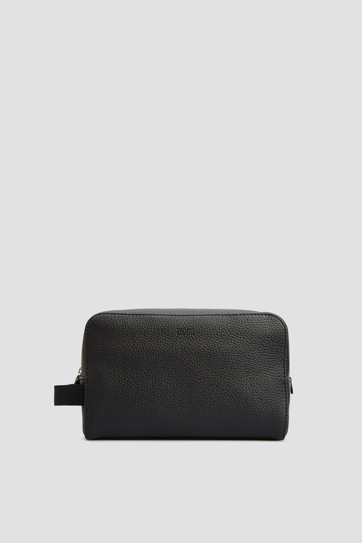 Черный кожаный несессер для парней BOSS 50402637;001