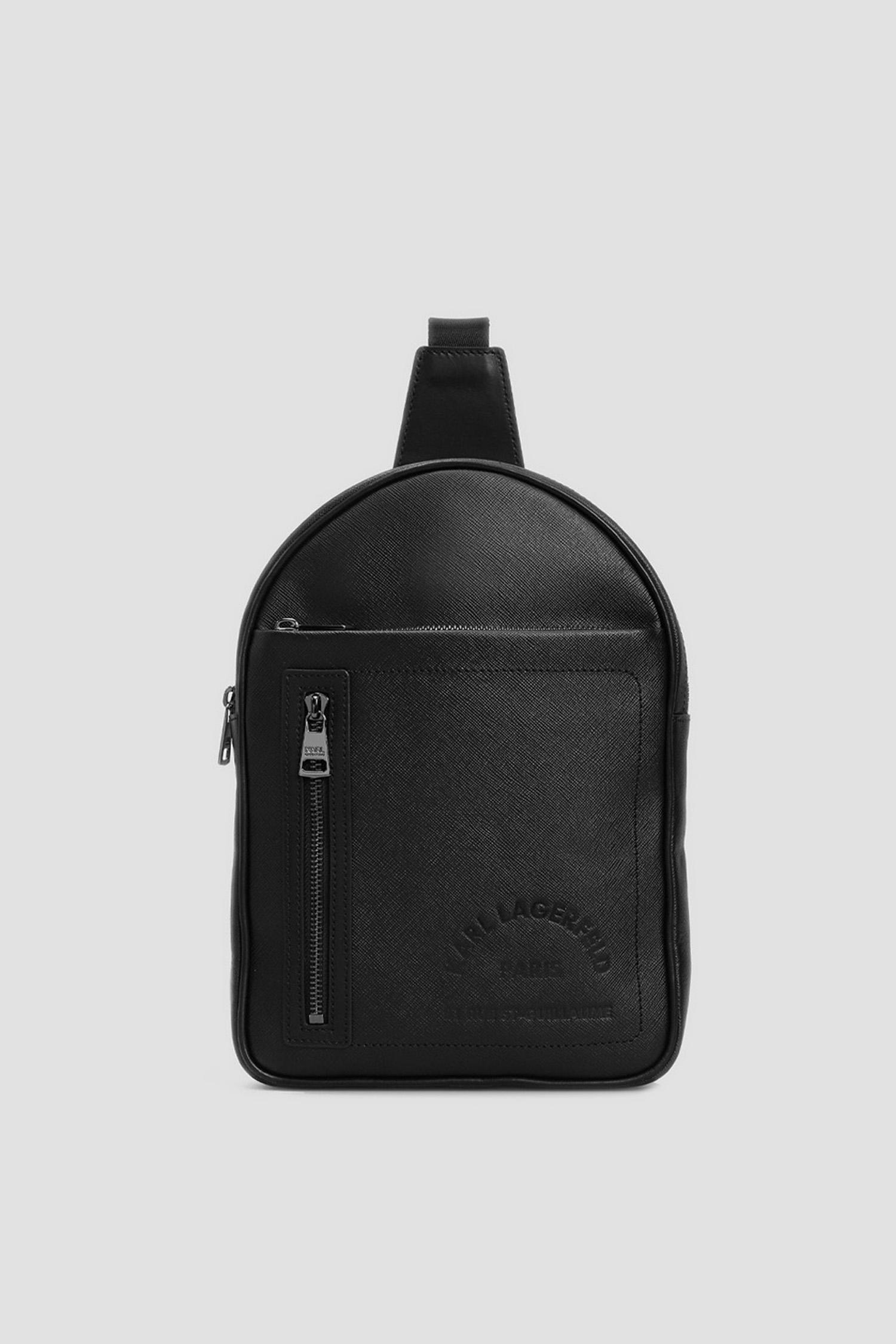 Чоловіча чорна шкіряна сумка через плече Karl Lagerfeld 511452.815922;990