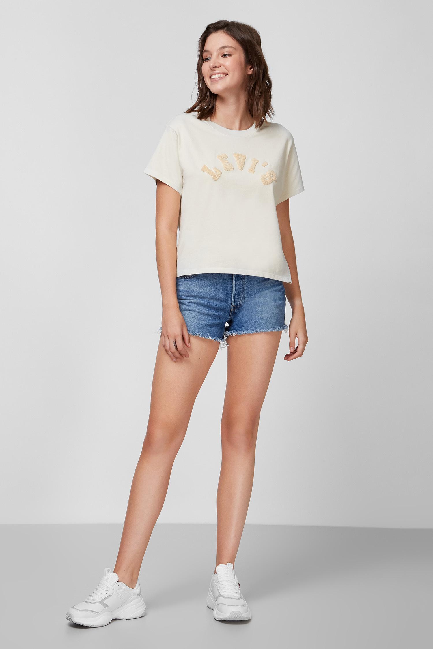 Женская бежевая футболка Levi's 69973;0131