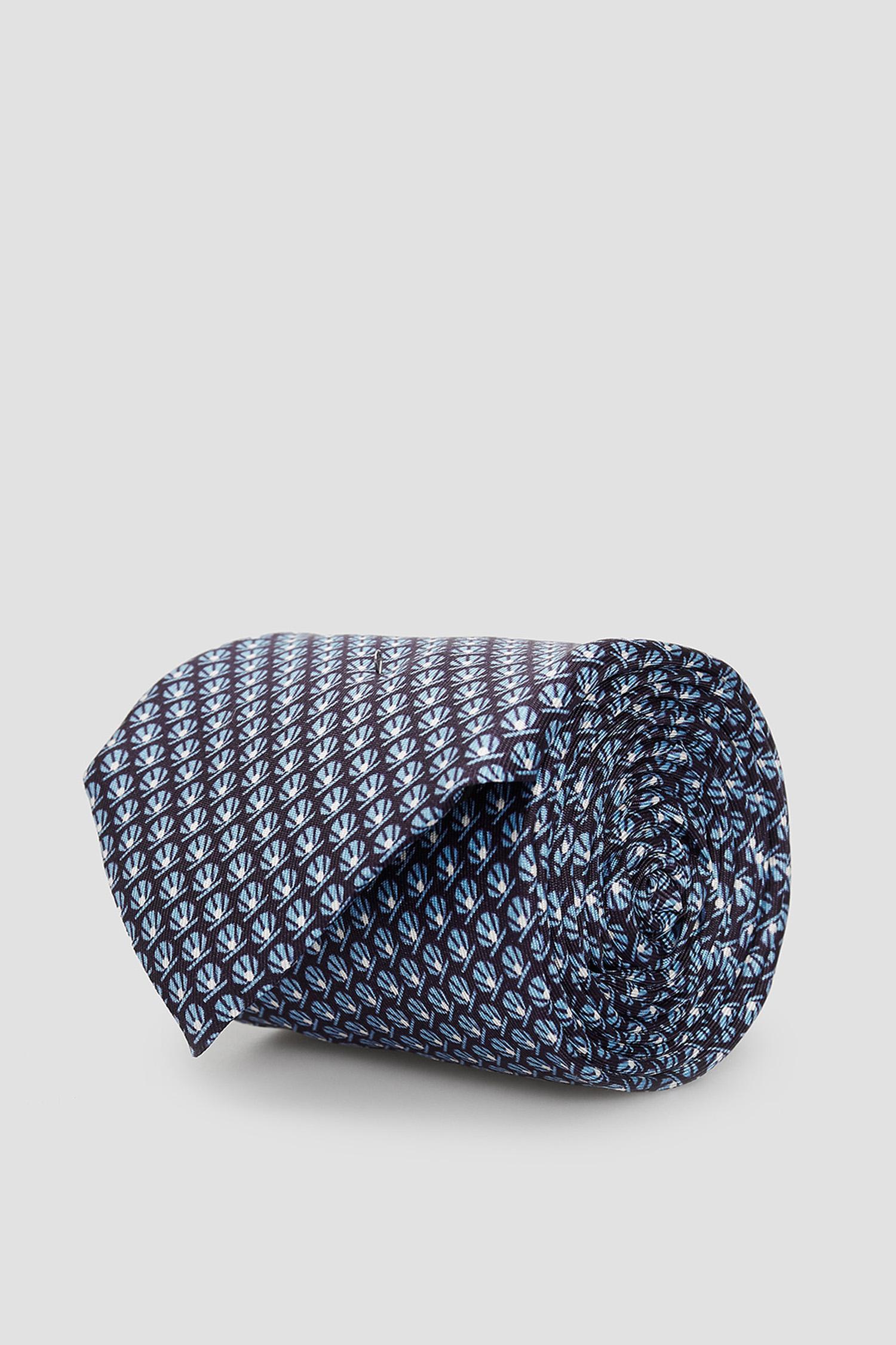 Блакитна шовкова краватка з візерунком для хлопців BOSS 50433809;402