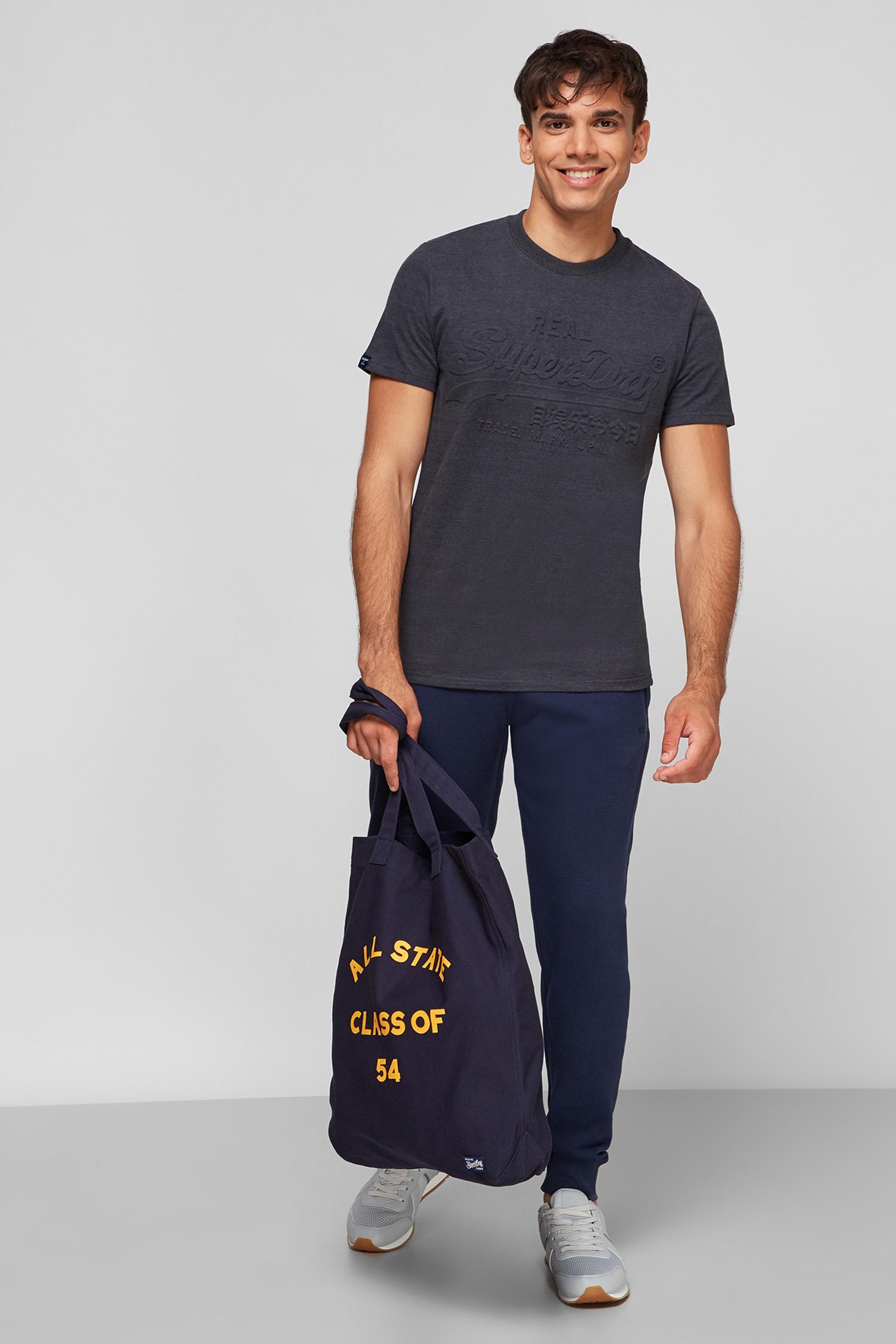 Чоловіча темно-синя футболка SuperDry M1011002A;5EP