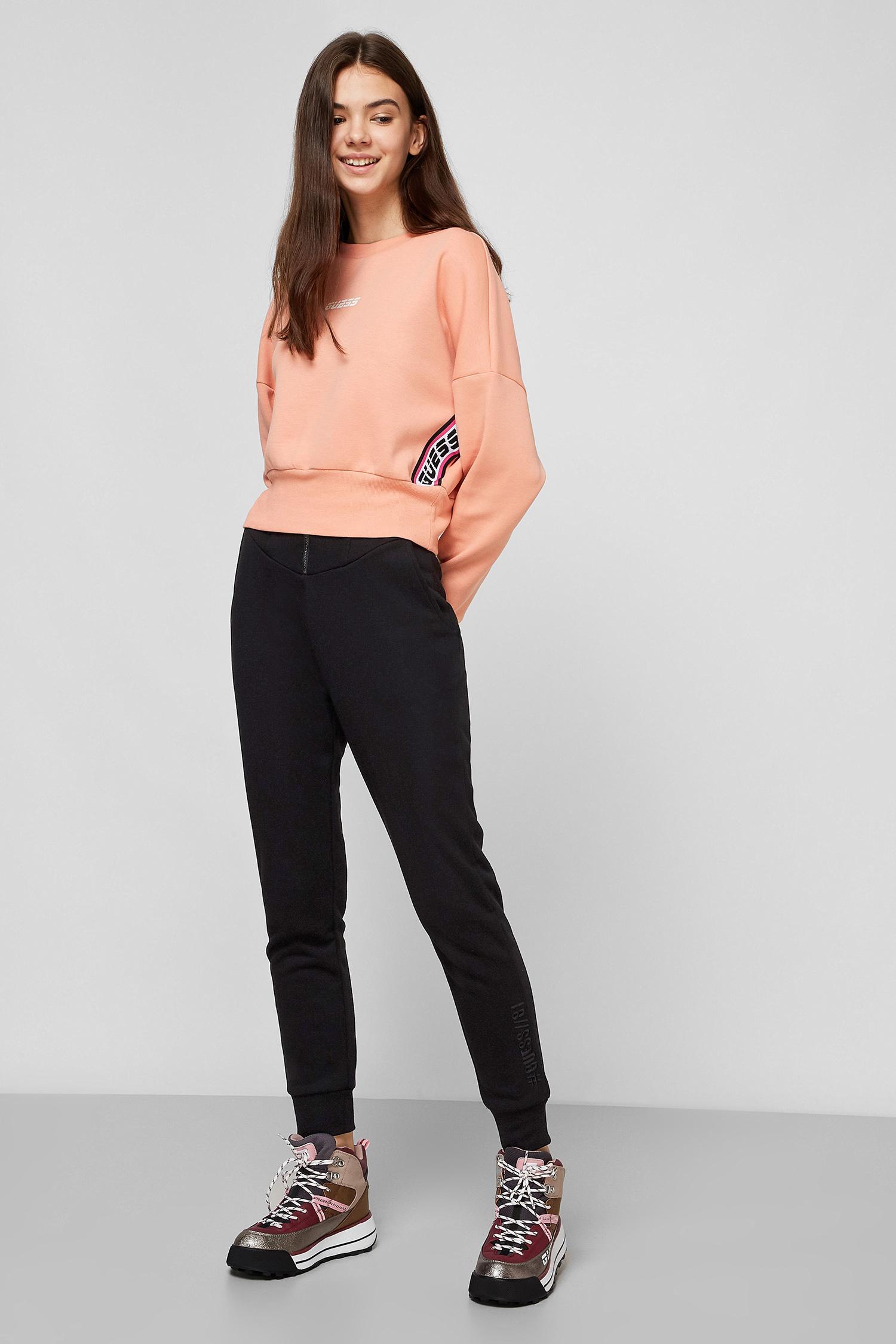 Черные брюки для девушек Guess W0BB19.K8800;JBLK