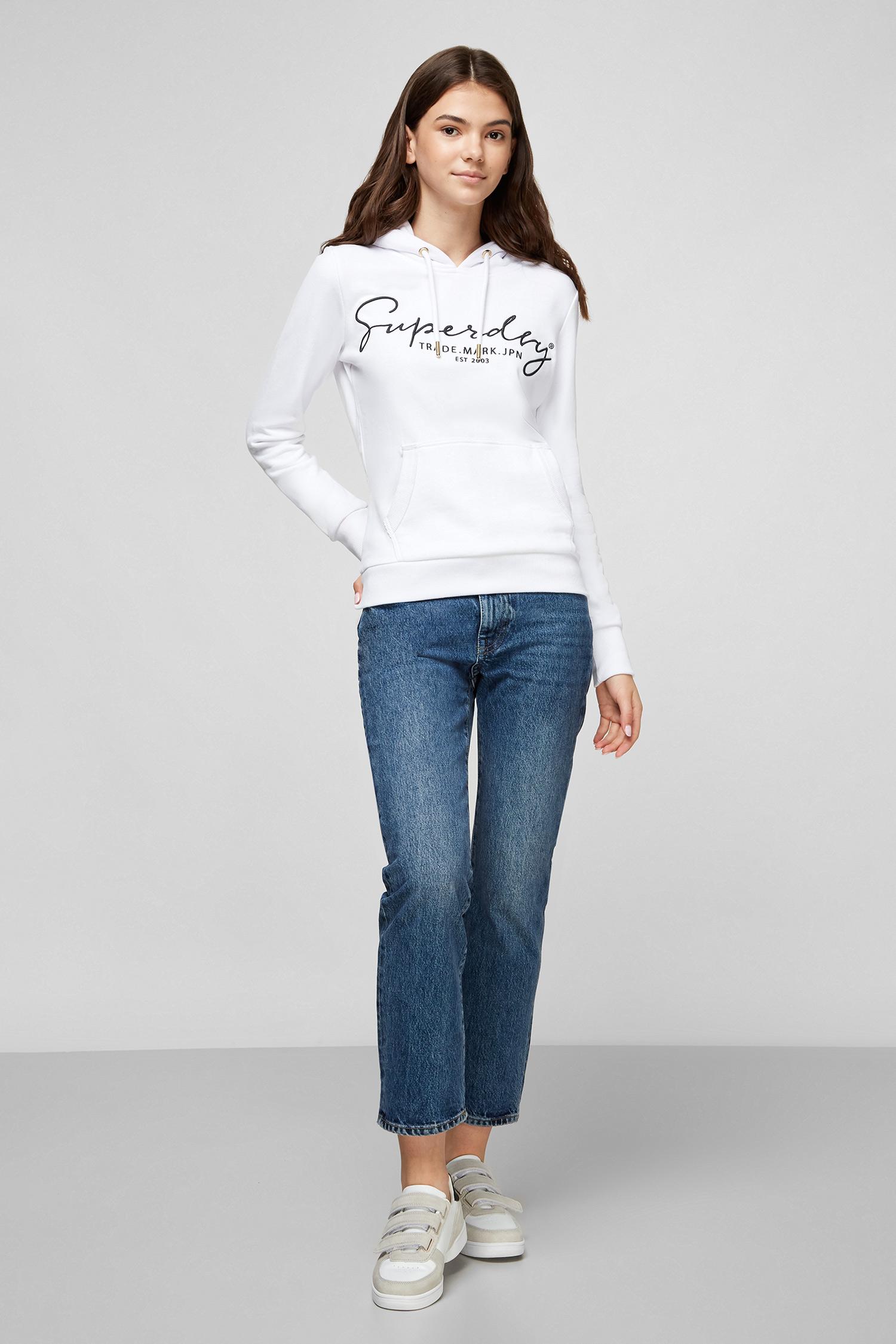 Белое худи для девушек SuperDry W2010291A;01C