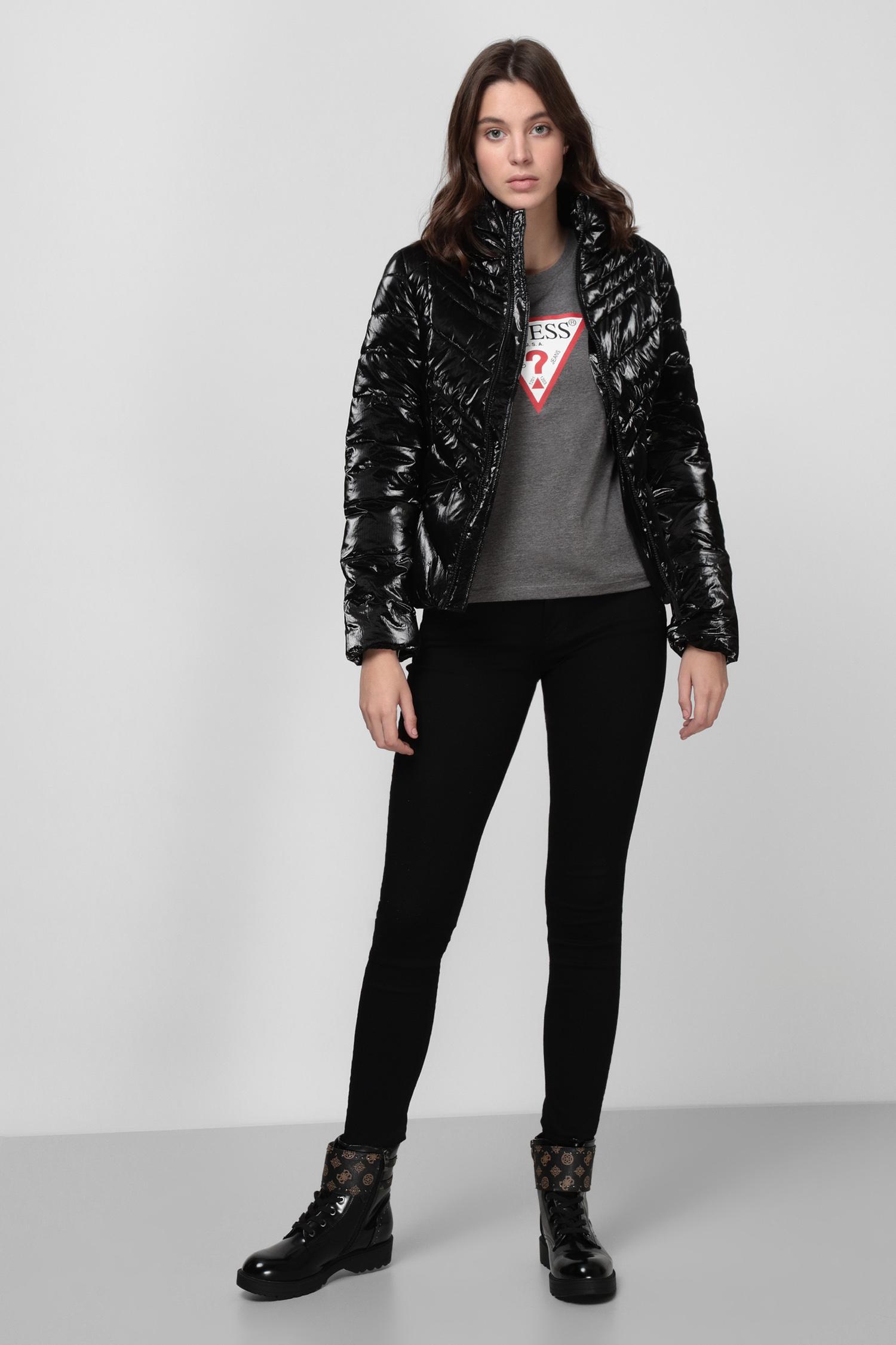 Женская черная куртка Guess W0BL0D.WDH20;JBLK