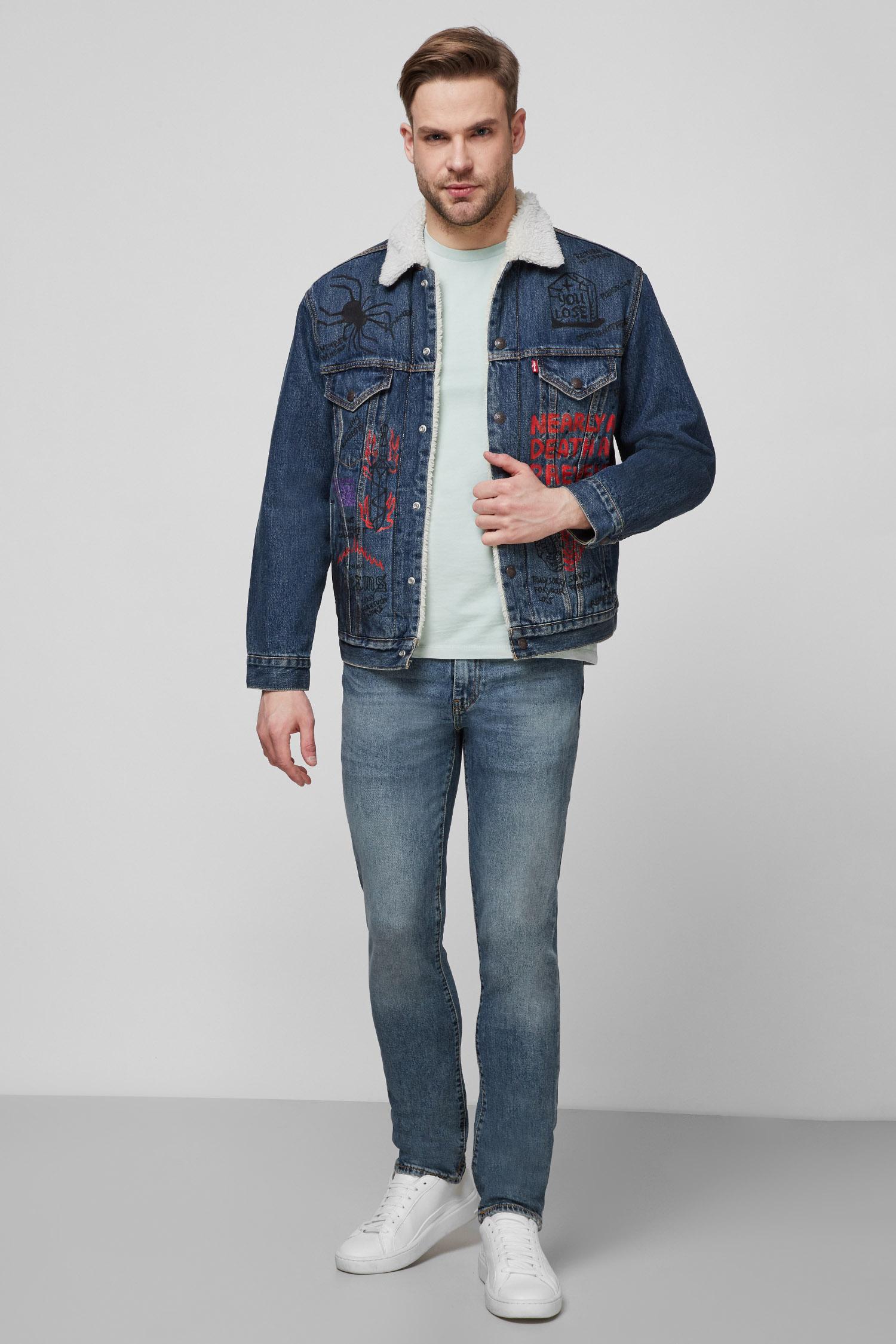 Мужская синяя джинсовая куртка Custom Levi's 79129;0004T(8)