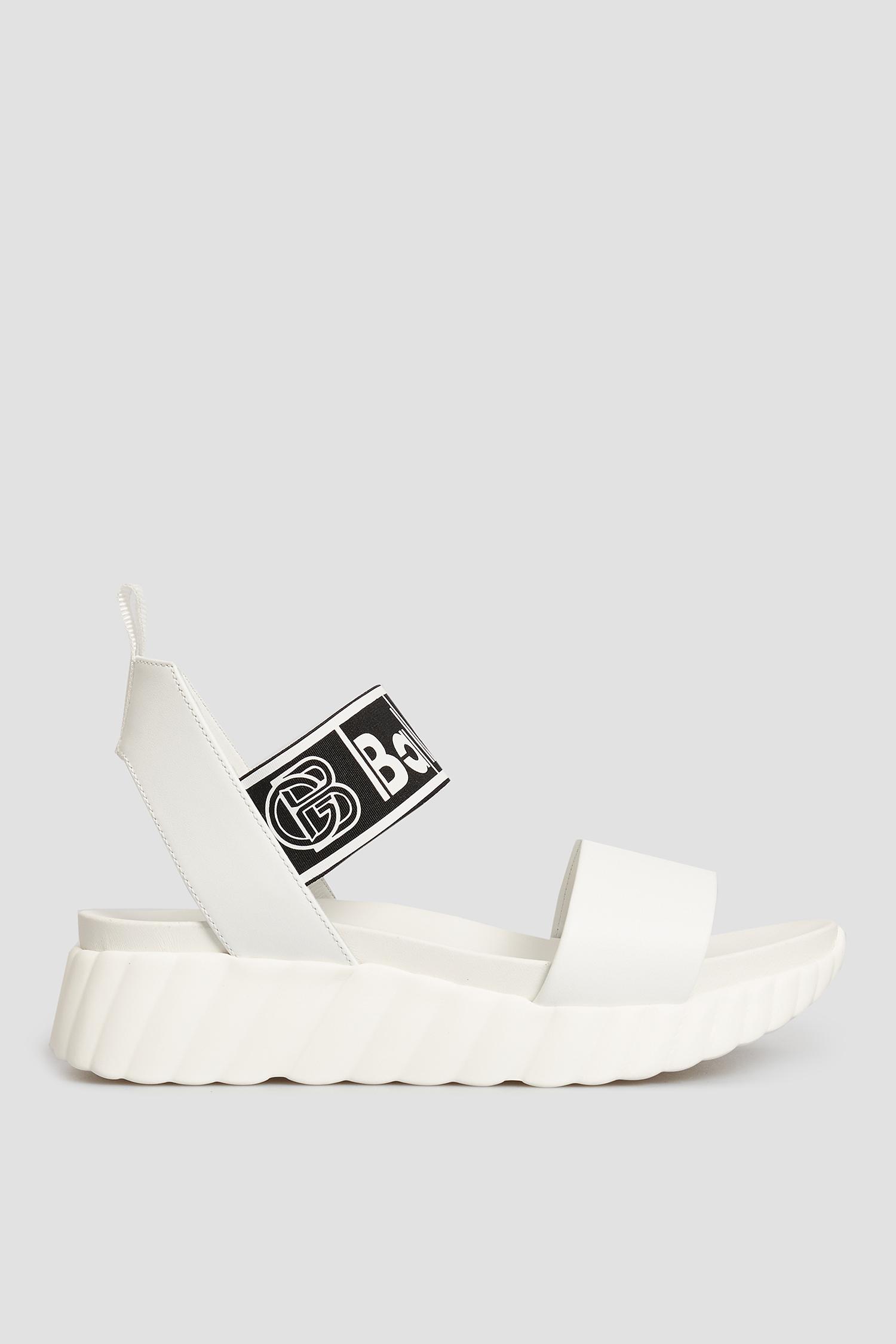 Белые кожаные сандалии для девушек Baldinini 199015;90