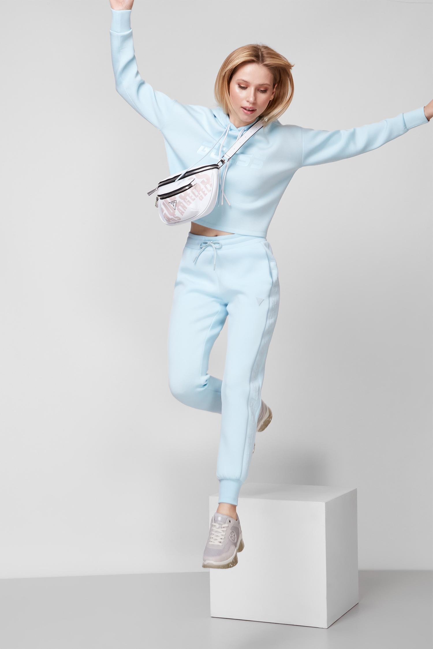 Женские голубые спортивные брюки Guess O1GA49.KAMN2;G7FA