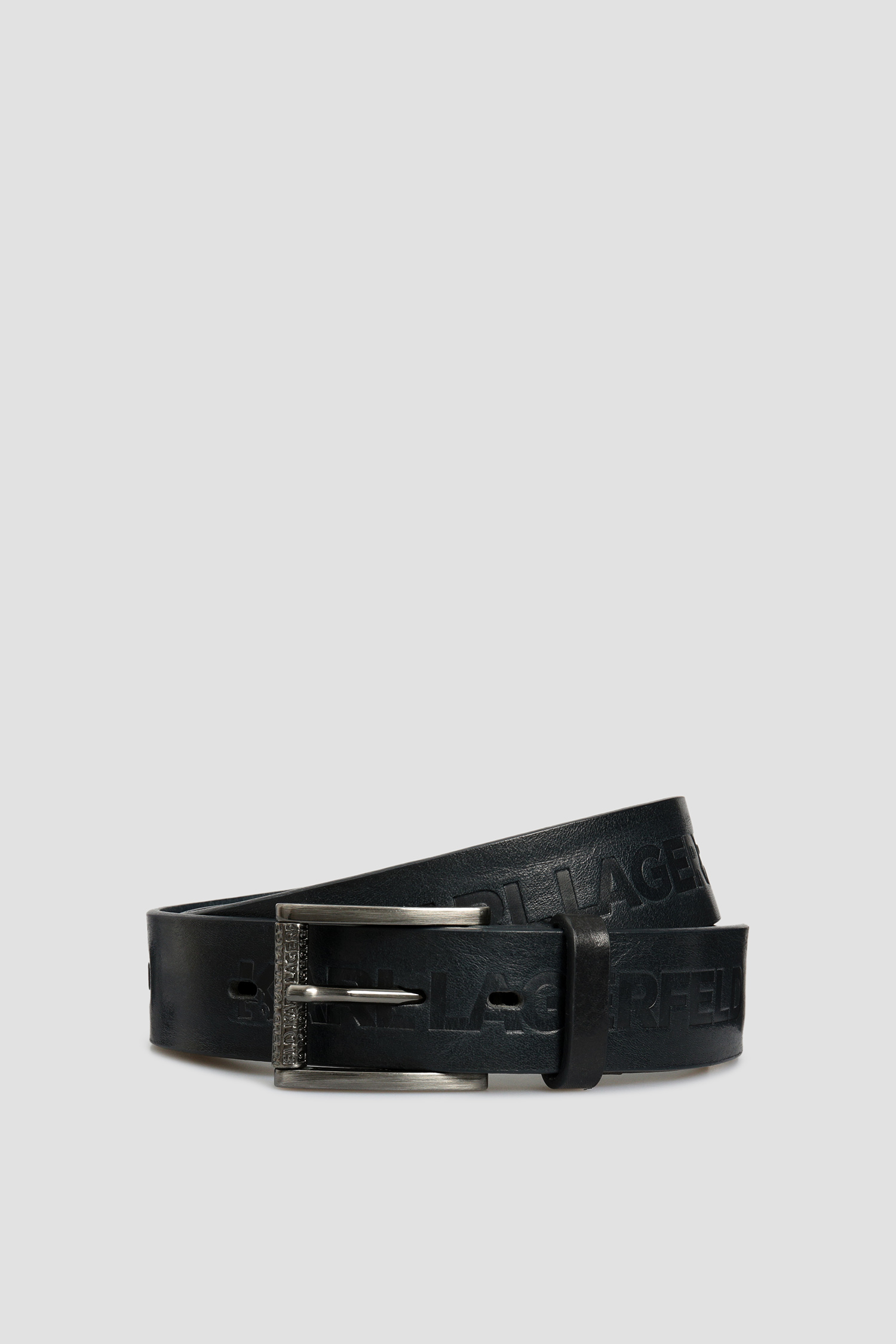 Мужской темно-синий кожаный ремень Karl Lagerfeld 592448.815300;690