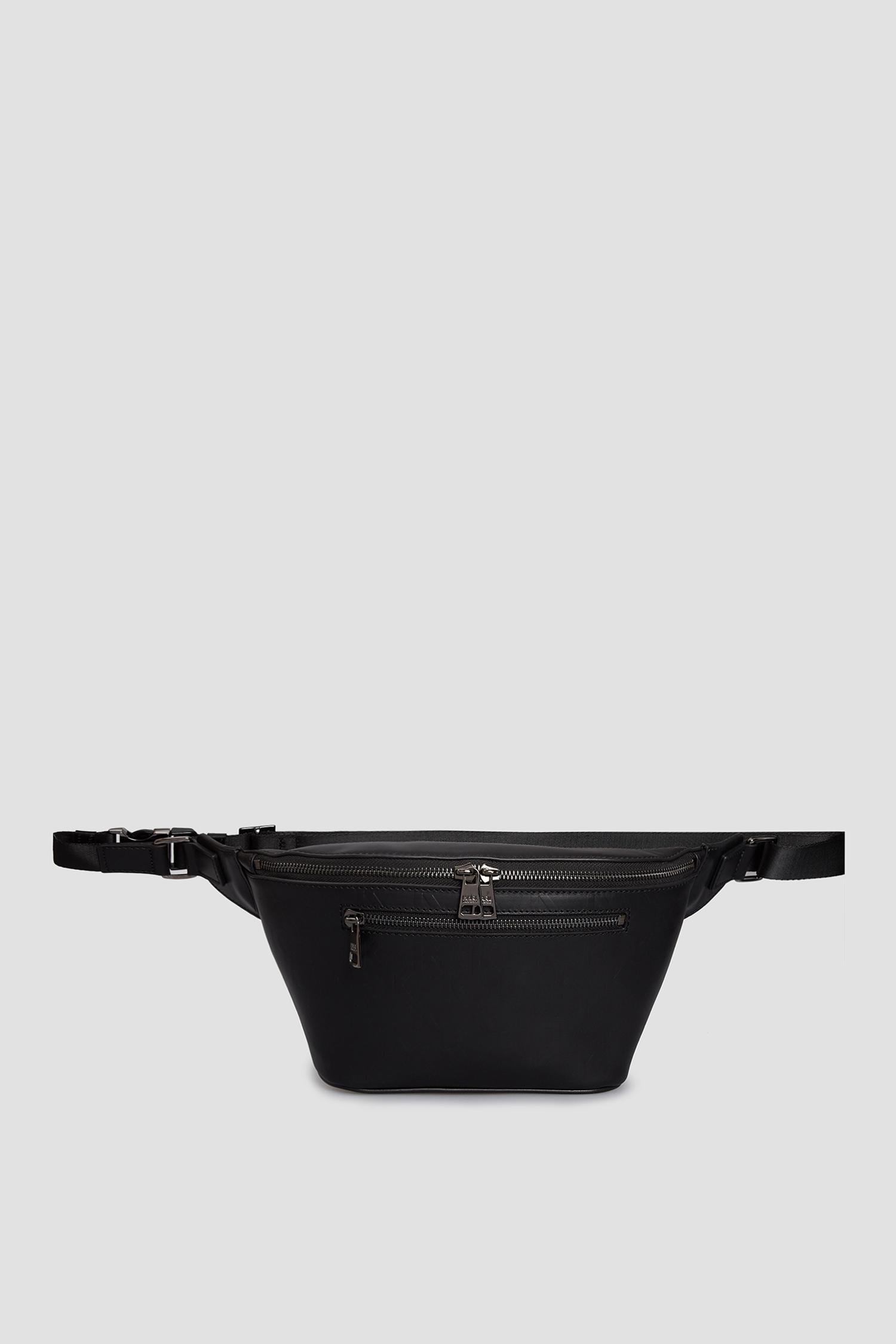 Чоловіча чорна шкіряна поясна сумка Karl Lagerfeld 511453.815924;990