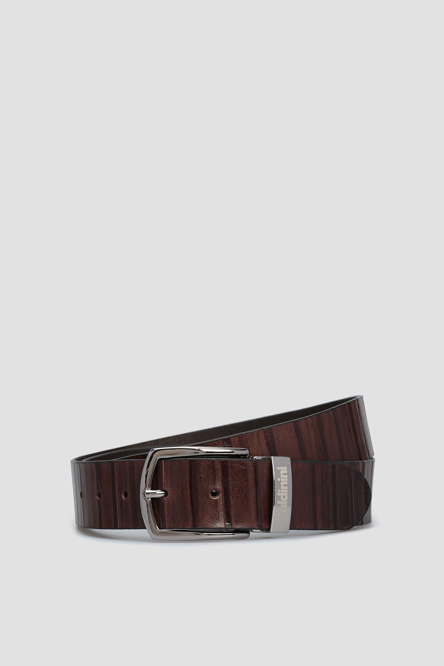 Мужской коричневый кожаный ремень Baldinini 074105;30