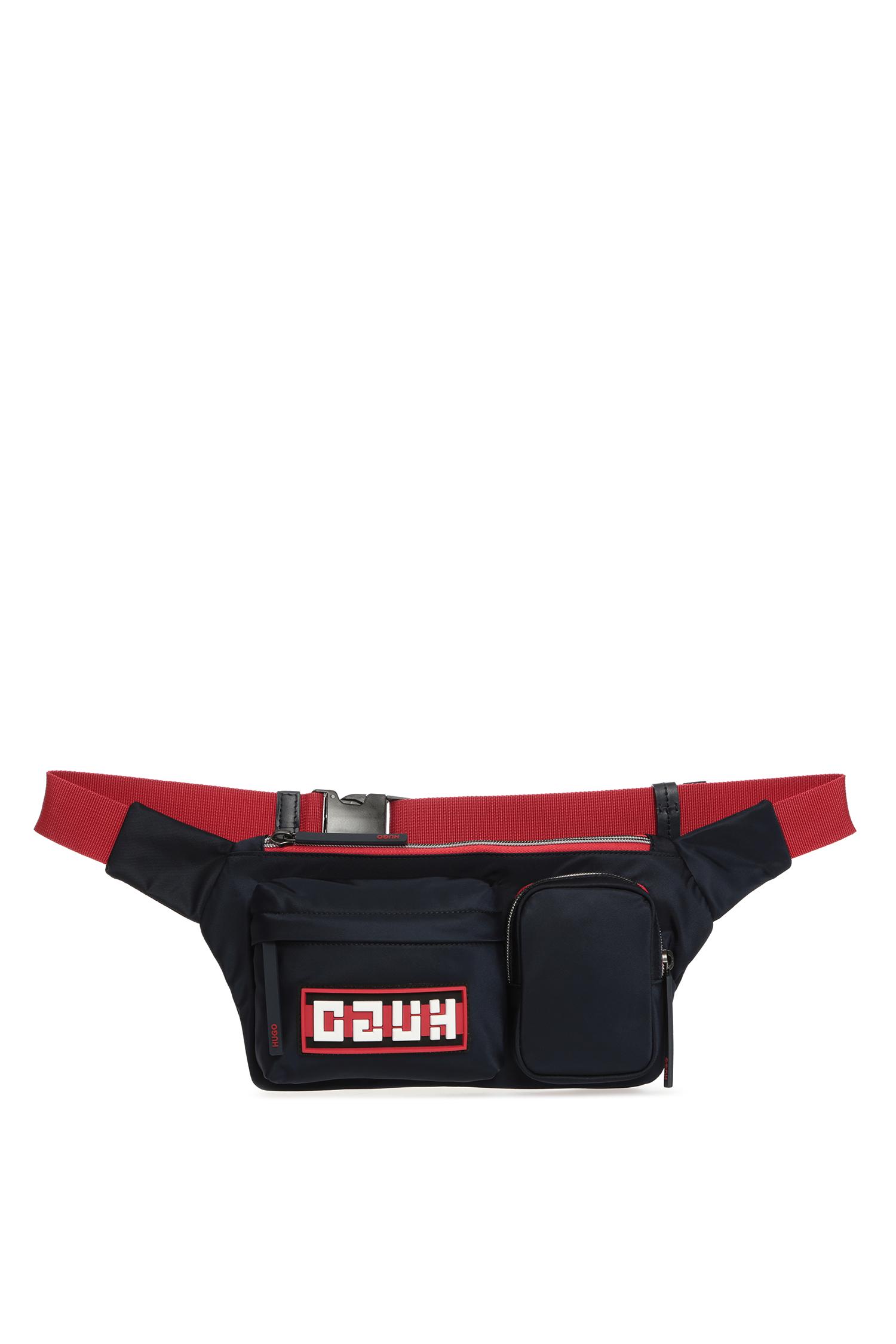 Темно-синяя поясная сумка для парней HUGO 50419976;410