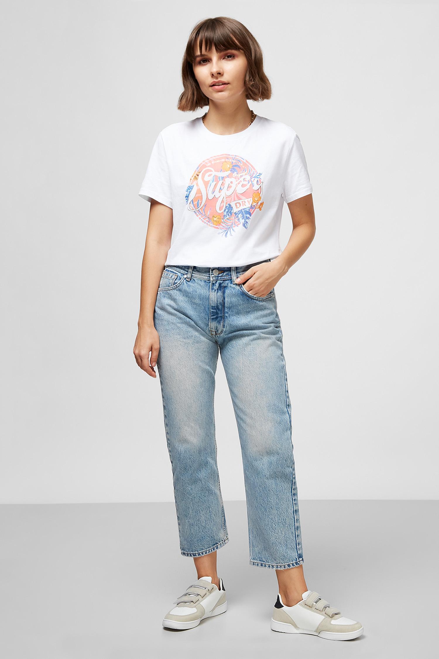 Женские голубые джинсы SuperDry W7010078A;O3O