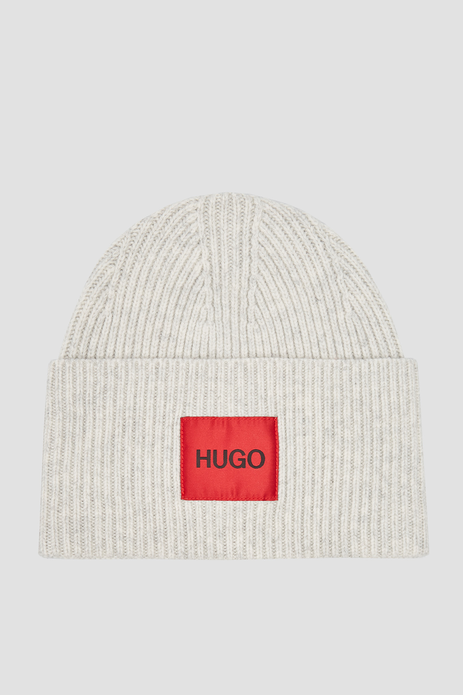 Женская серая шерстяная шапка HUGO 50440673;273
